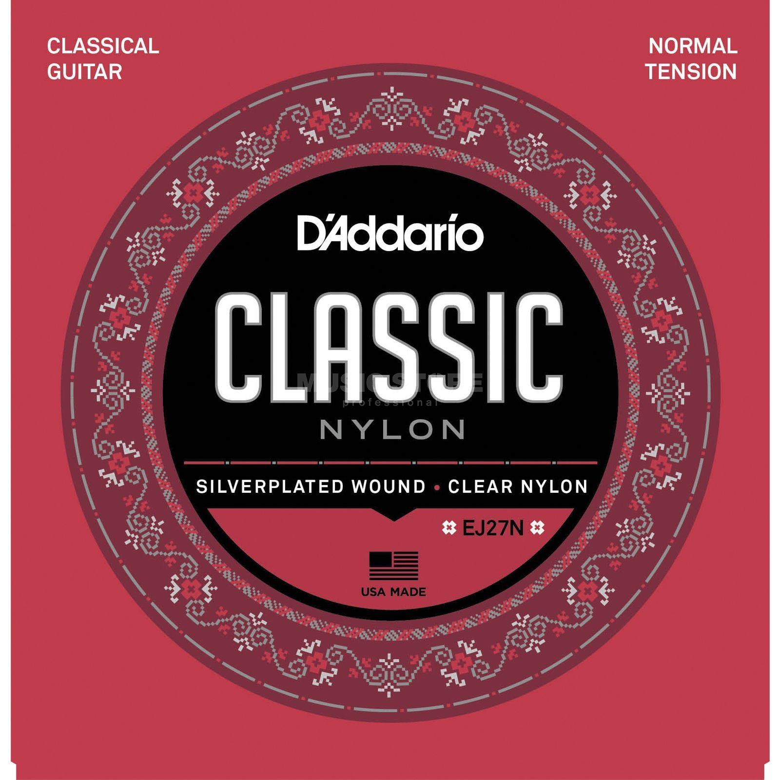 D'Addario Classical Strings EJ27N-3/4 3/4 Size, Silverplated, Normal Produktbillede