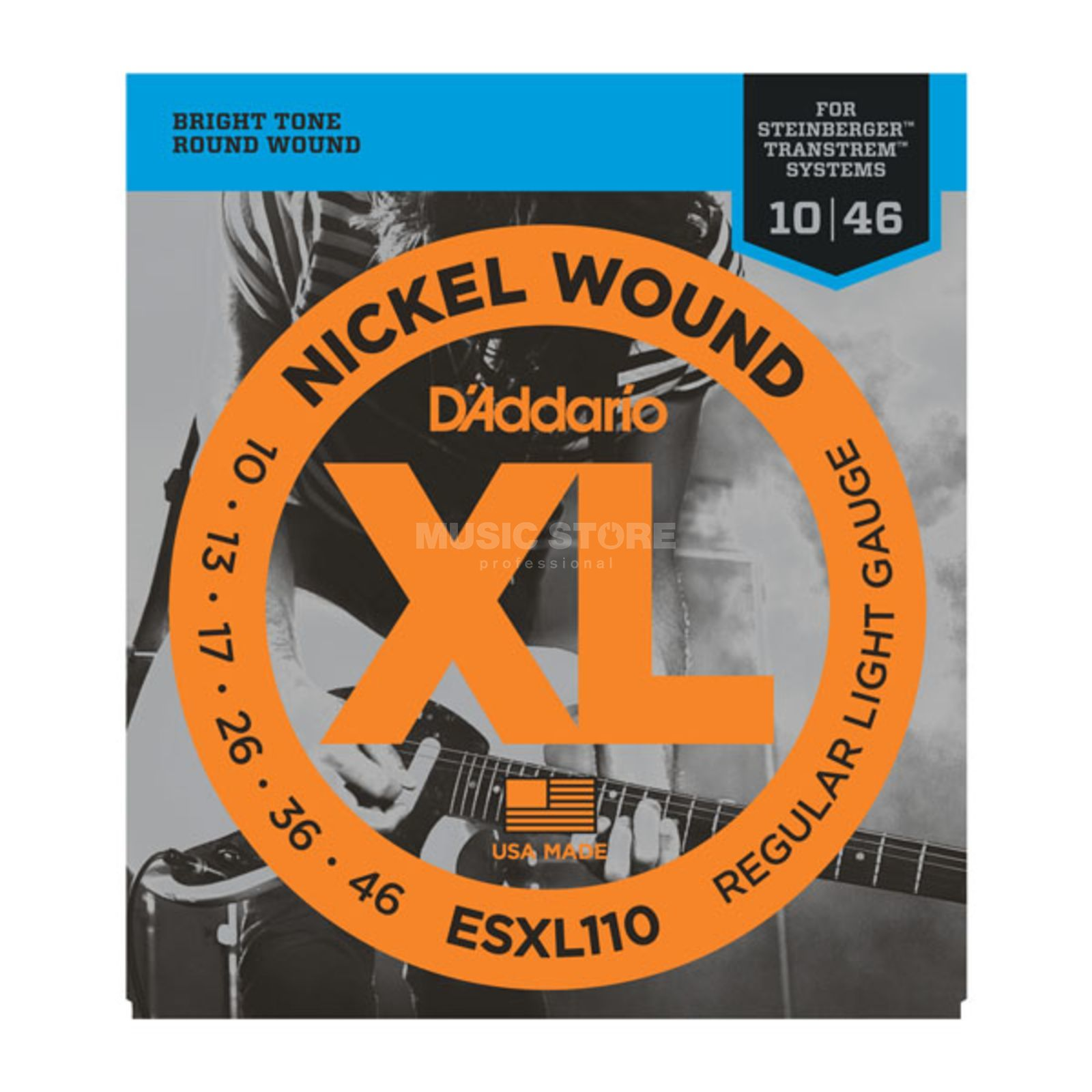 D'Addario Double Ball Saiten ESXL110 10-46 Nickel Wound Produktbild