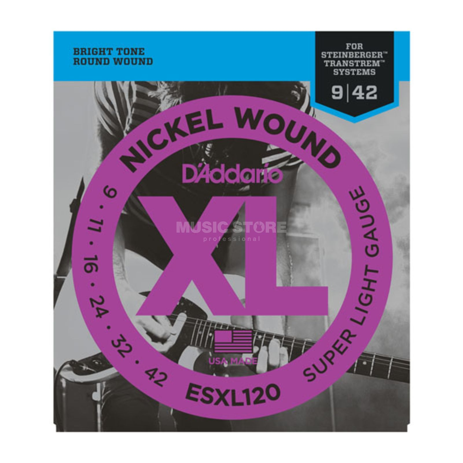 D'Addario Double Ball Saiten ESXL120 09-42 Nickel Wound Produktbild