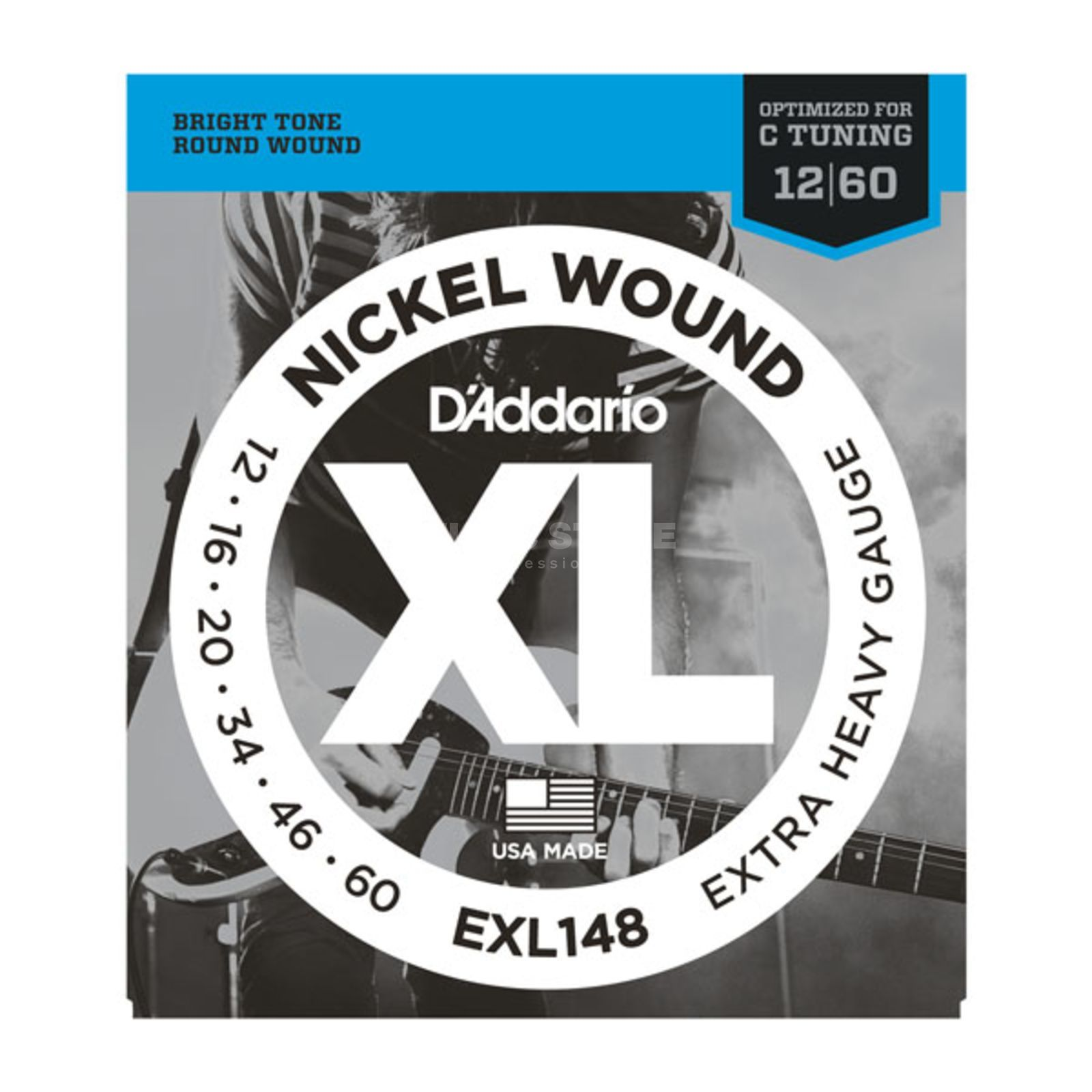 D'Addario E-Guit.StringEXL148 12-60 Drop Nickel Wound  Drop C Tuning Produktbillede