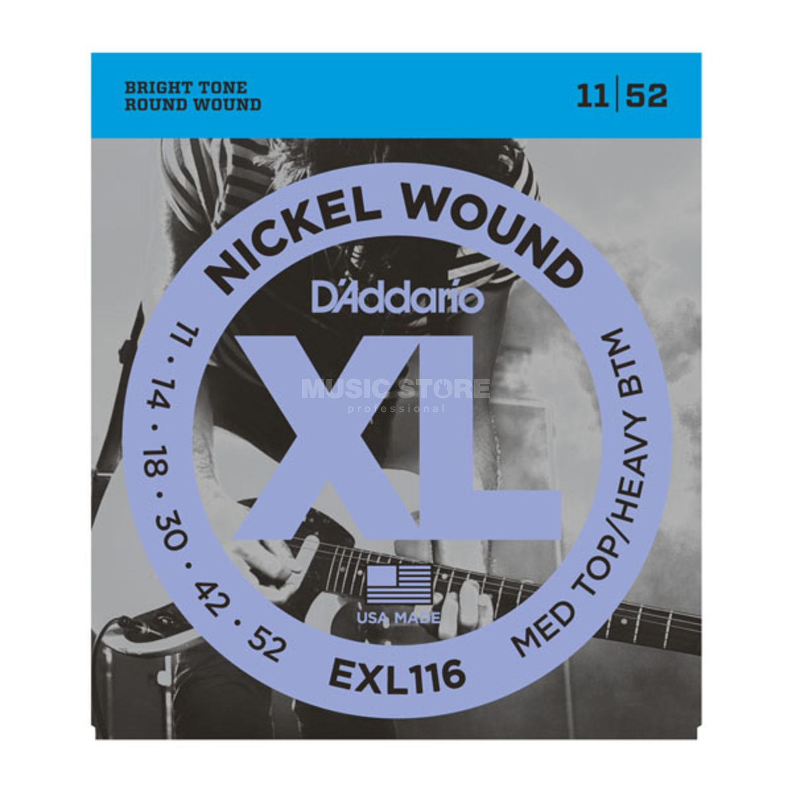 D'Addario E-Guit.Strings EXL116 11-52 Nickel Wound Product Image