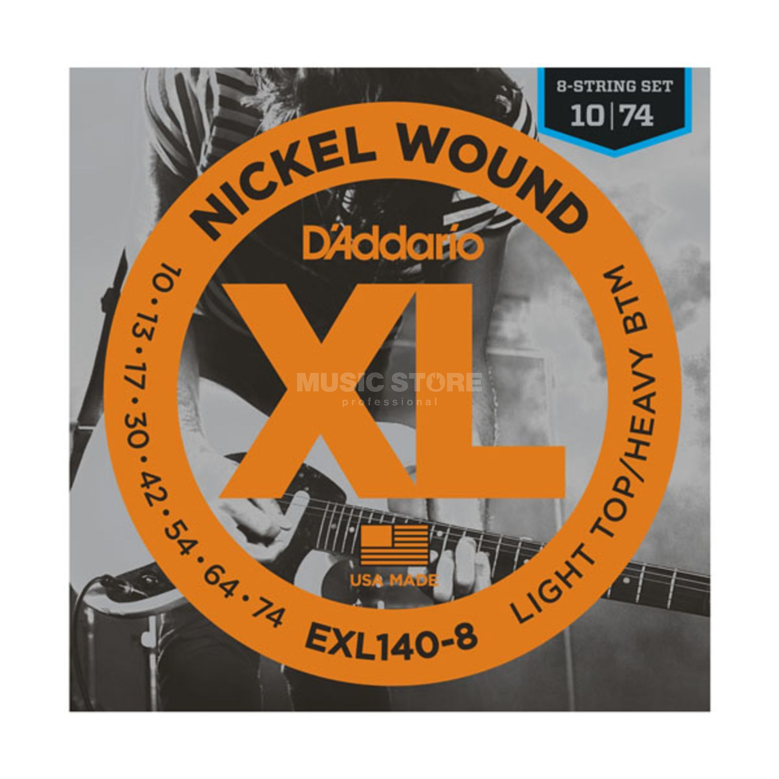 D'Addario E-Guit.Strings EXL140-8 10-74 Nickel Wound 8-String Produktbillede