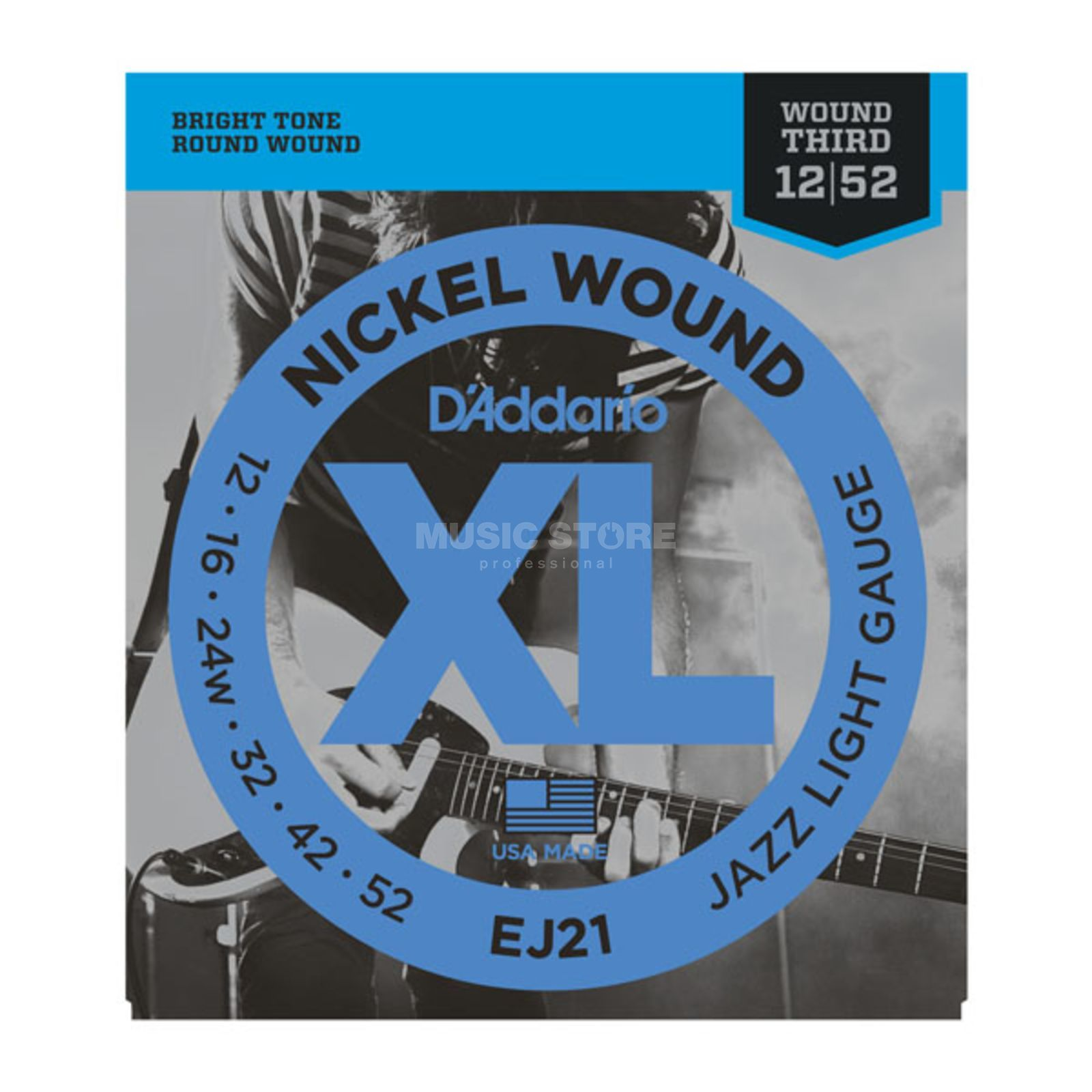 D'Addario E-Guitar Strings 12-52 EJ21 Nickel Wound Produktbillede