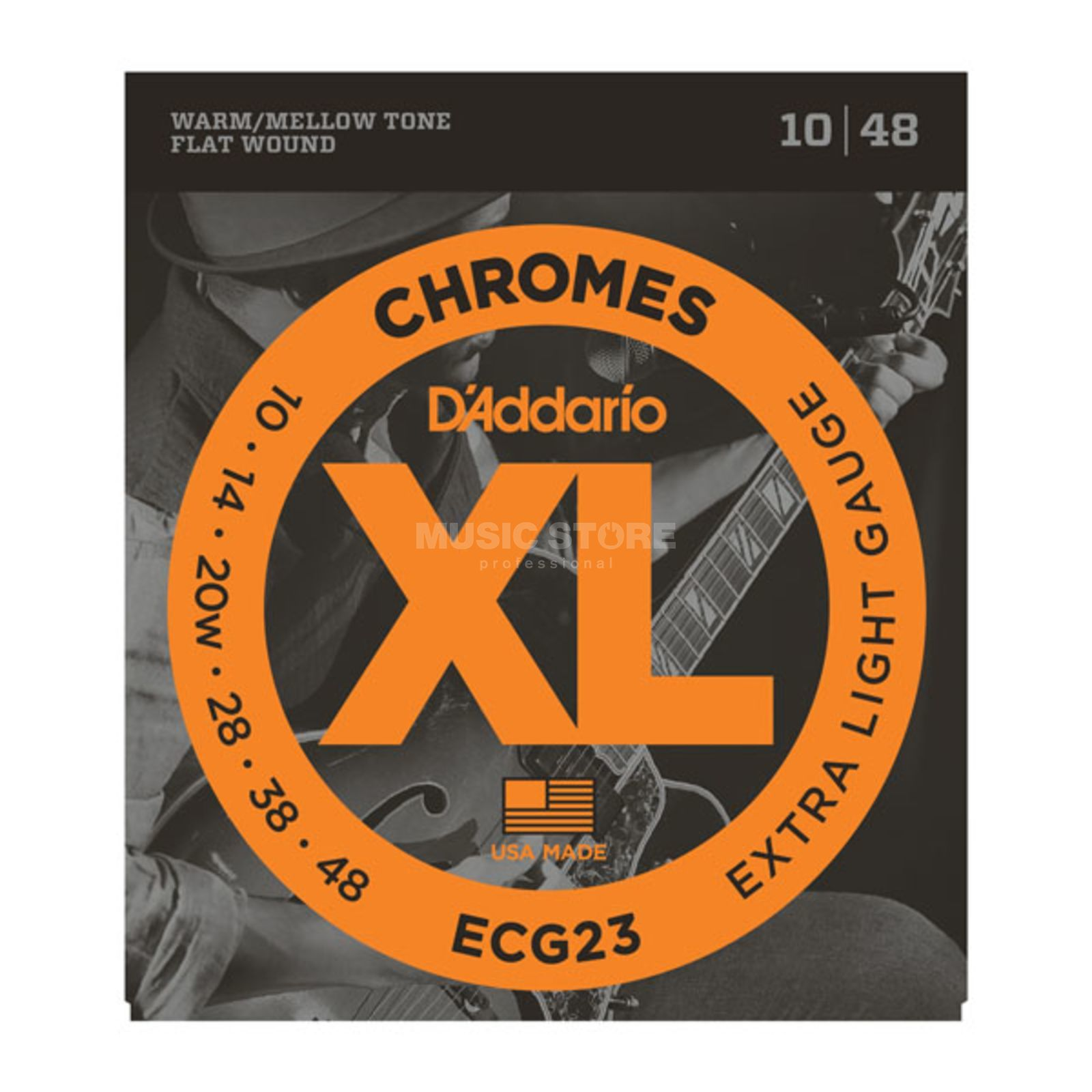 D'Addario E-Guitar Strings ECG23 10-48 Chromes Flatwound Produktbillede