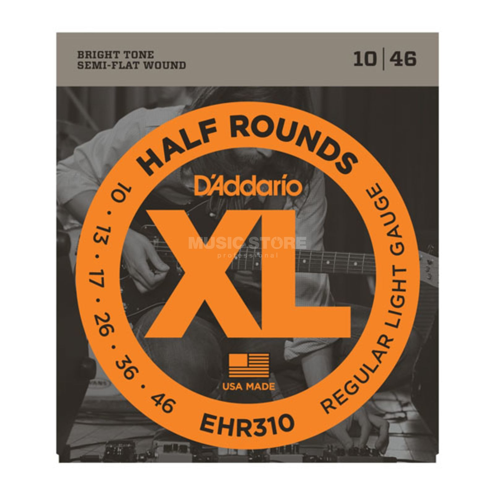 D'Addario E-Guitar Strings EHR310 10-46 Half Rounds Stainless Steel Produktbillede