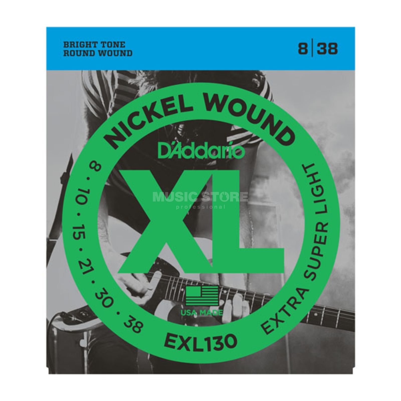 D'Addario E-Guitar Strings EXL130 08-38 Nickel Wound Produktbillede