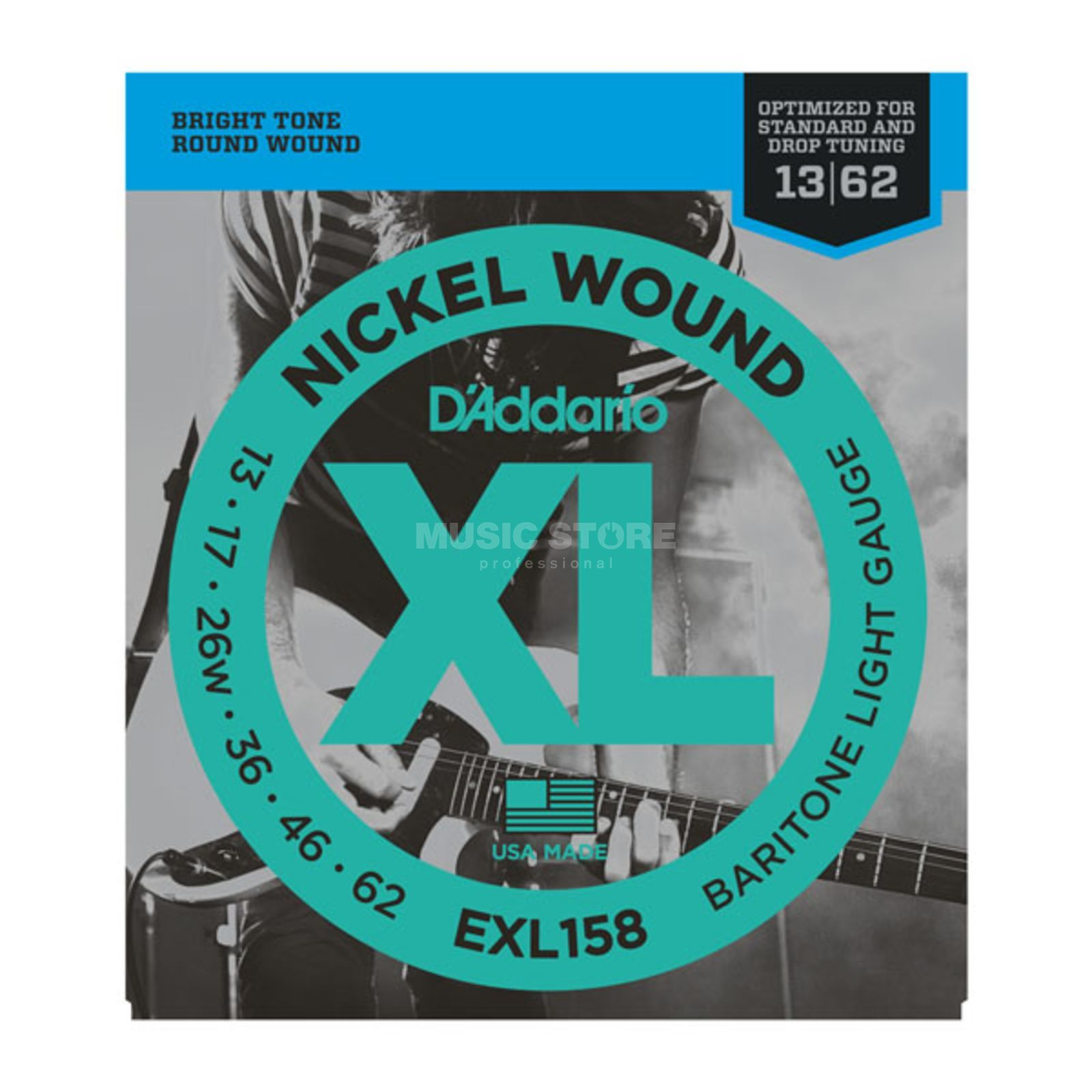 D'Addario E-Guitar Strings EXL158 13-62 Nickel Wound Produktbillede