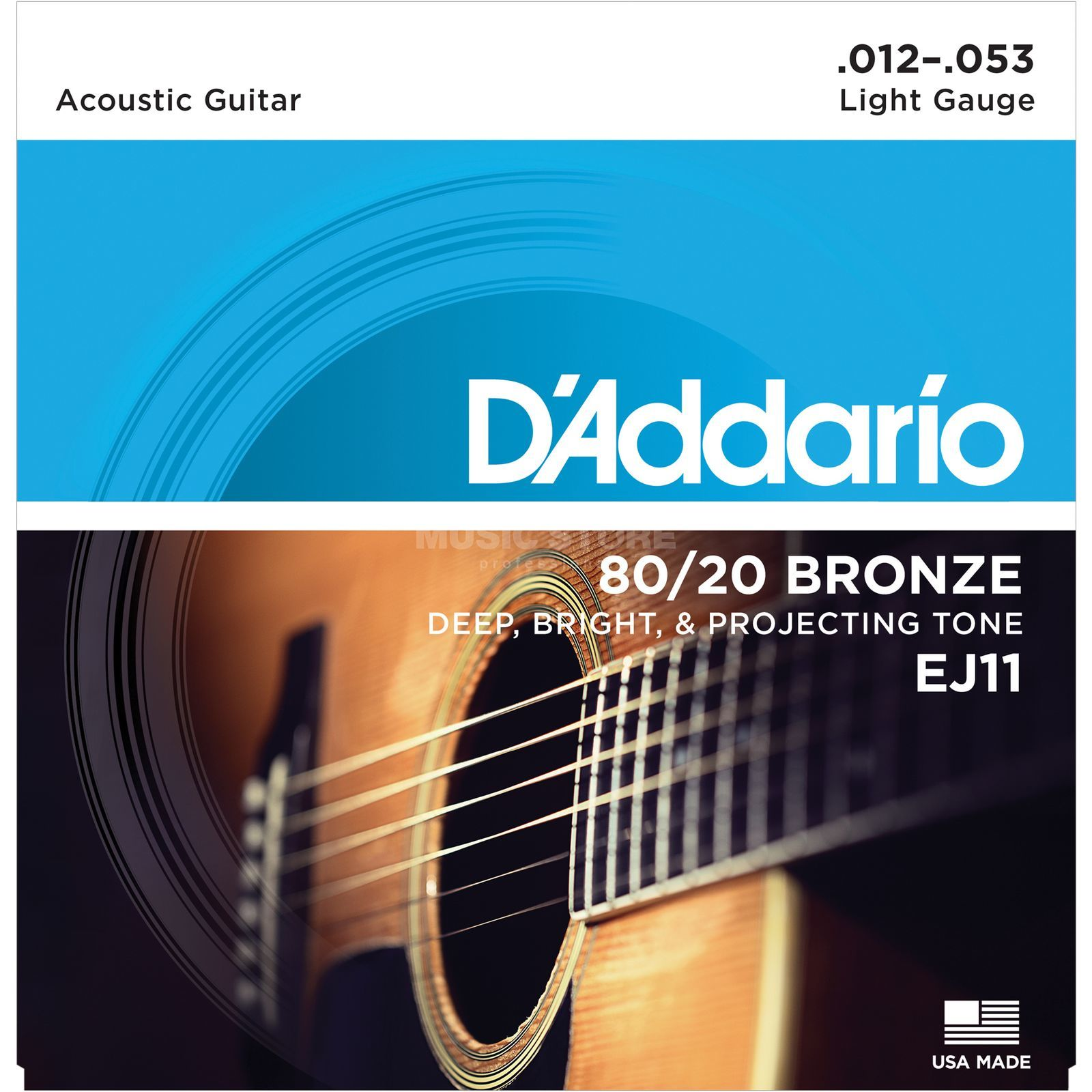 D'Addario EJ11 12-53 80/20 Bronze Light Produktbild
