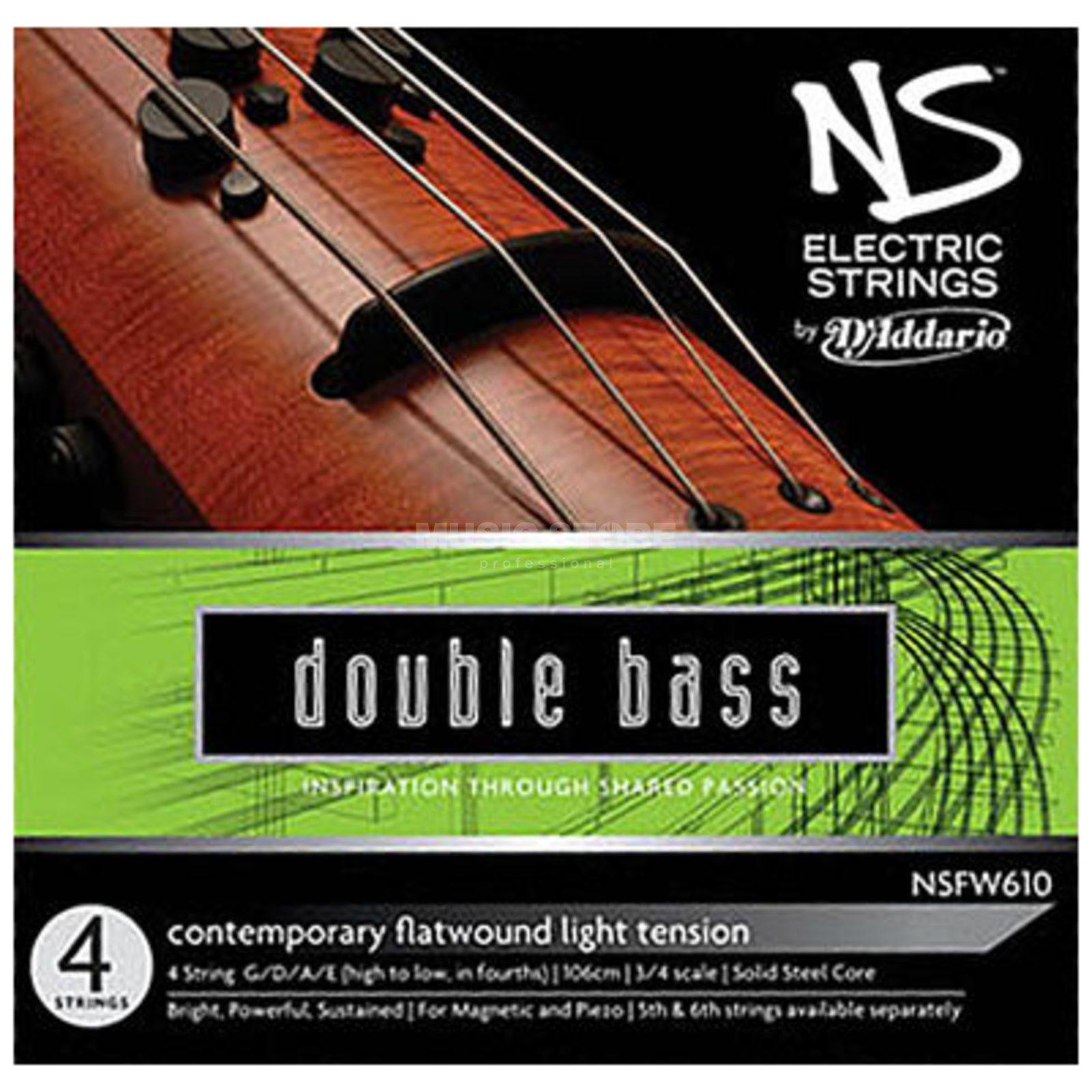 D'Addario Electric Contrabass String-Set 3/4 Light, NSFW610 NS Product Image
