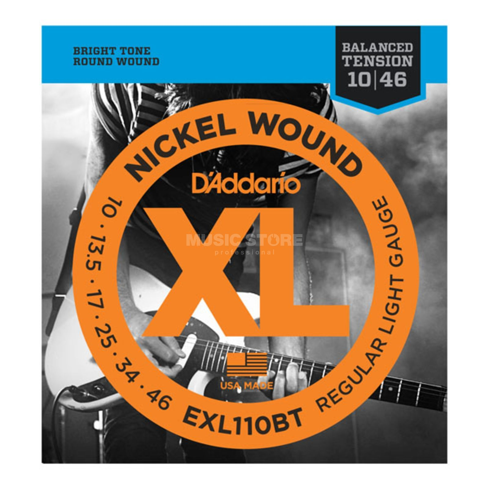 D'Addario EXL110BT 10-46 Balanced Tension Nickel Wound Produktbild