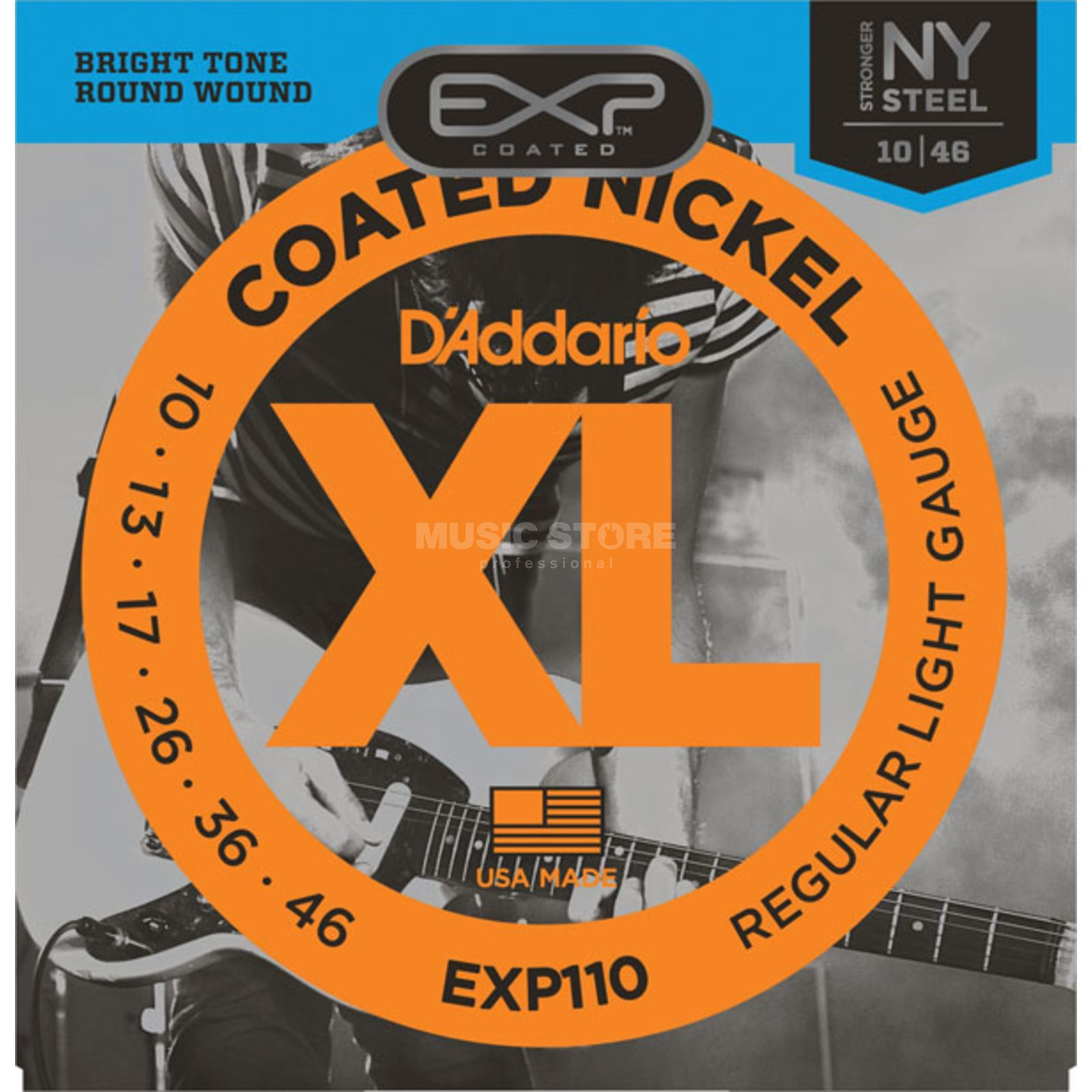 D'Addario EXP110 10-46 Coated Nickel Plated Light Produktbild