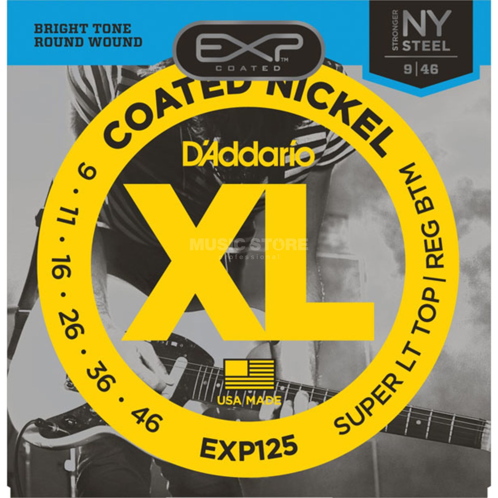 D'Addario EXP125 09-46 Coated Nickel Plated Produktbild