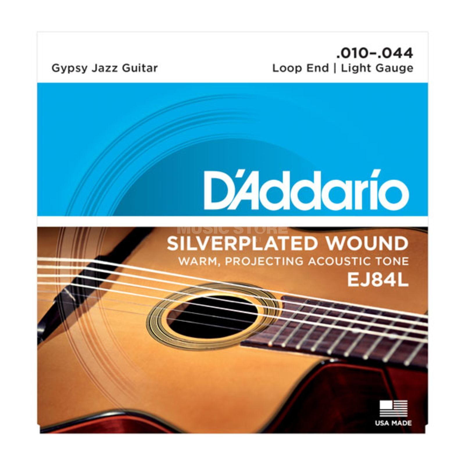 D'Addario Gypsy Jazz Saiten EJ84L 10-44 Loop End, Silverplated Wound Produktbillede