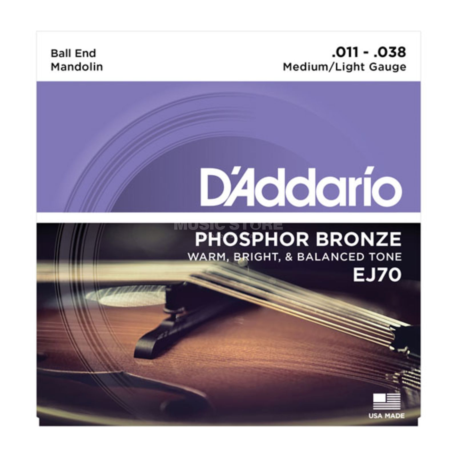 D'Addario Mandolin Strings  EJ70 11-38 Phosphor Bronze Ball End Produktbillede
