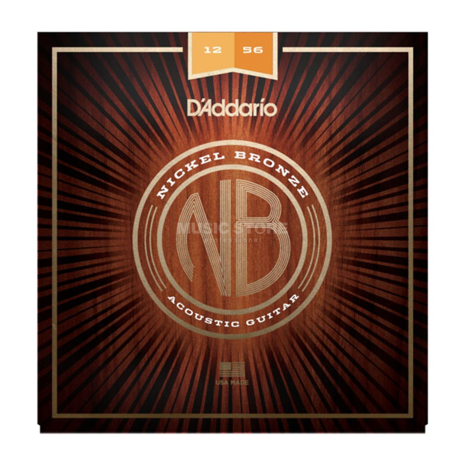 D'Addario NB1256 12-56 Nickel Bronze Acoustic Light Top/Medium Bottom Produktbild