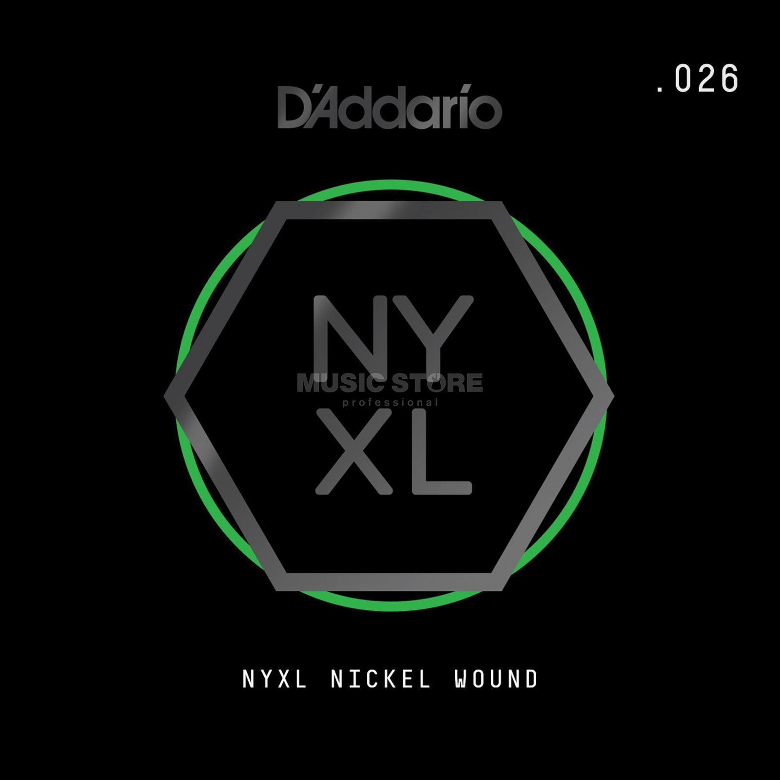 D'Addario NYNW026 Single String Nickel Wound Productafbeelding
