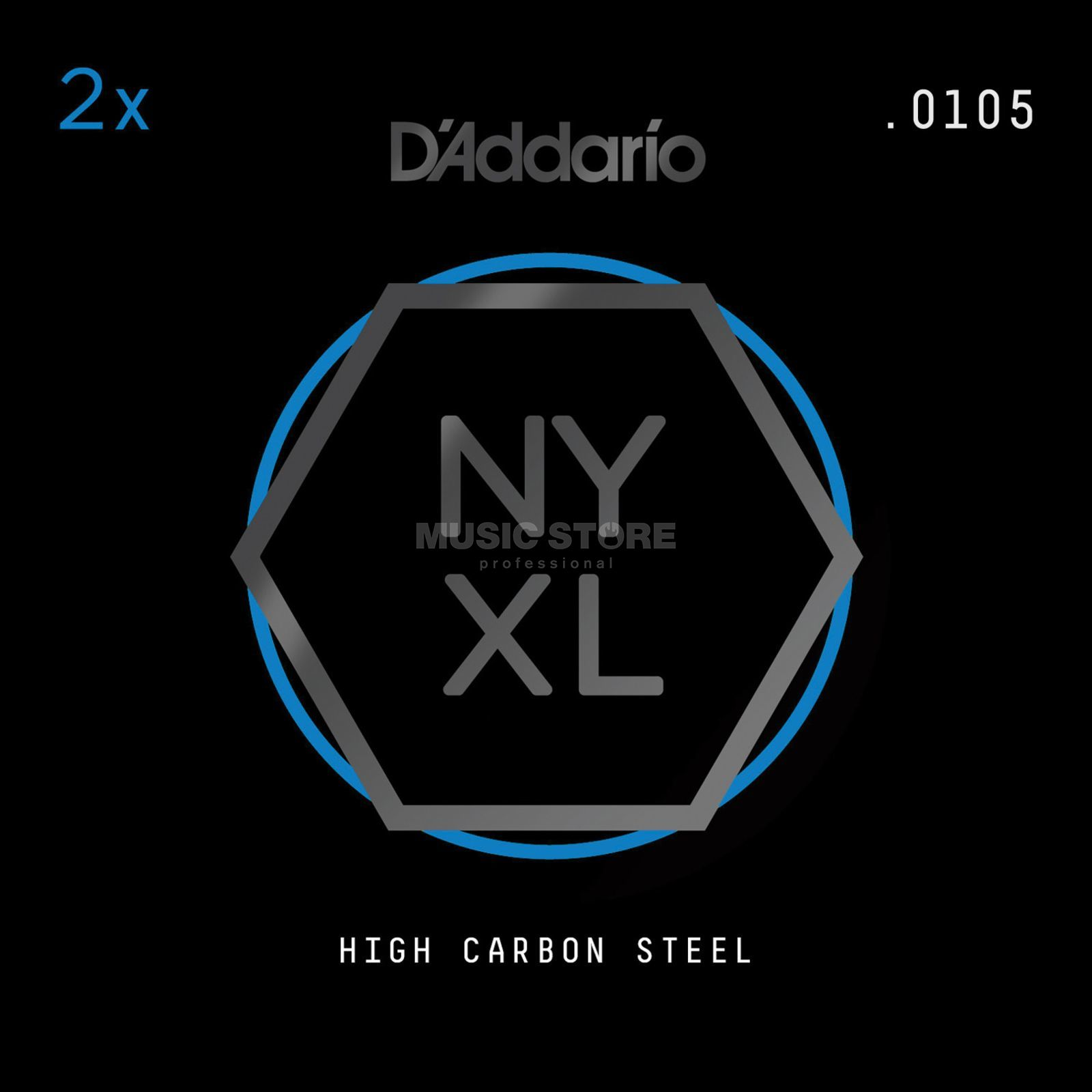D'Addario NYPL0105 Plain Single String 2-Pack - High Carbon Steel Produktbillede