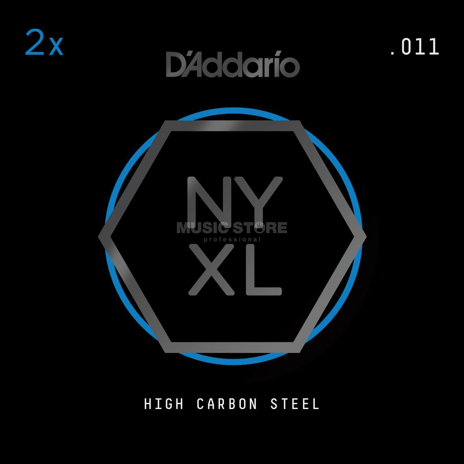 D'Addario NYPL011 Plain Single String 2-Pack - High Carbon Steel Product Image
