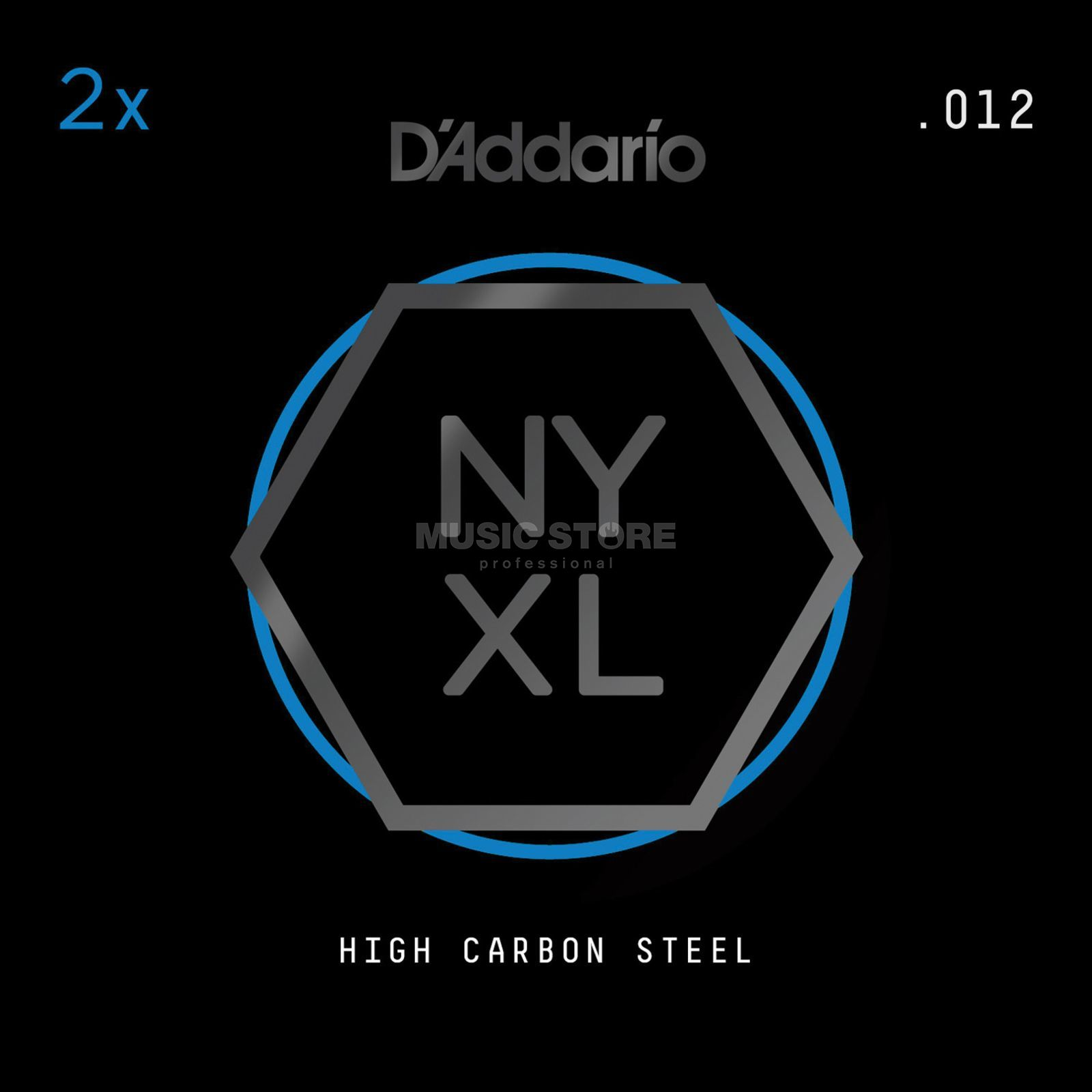 D'Addario NYPL012 Plain Single String 2-Pack - High Carbon Steel Produktbillede