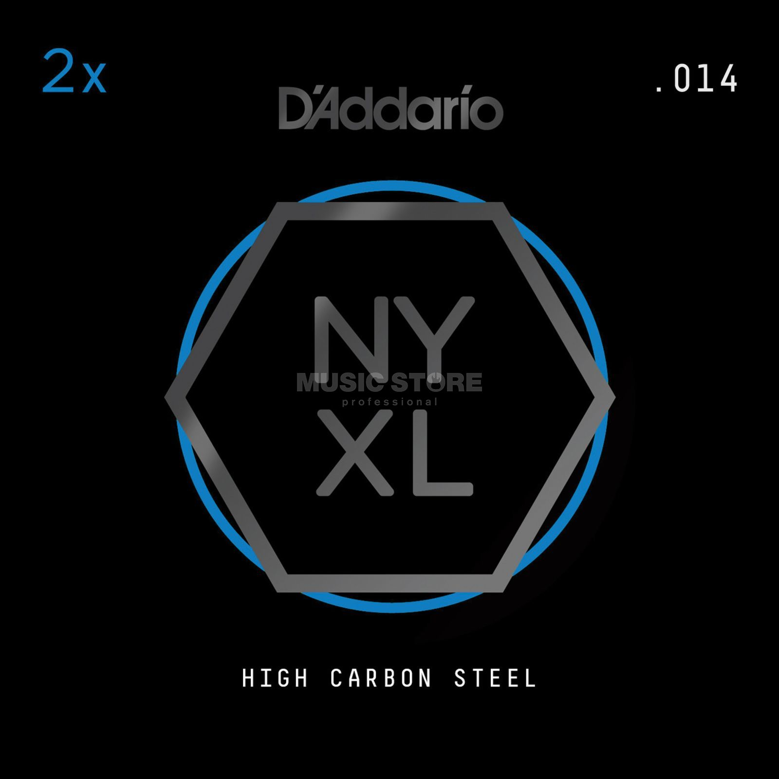 D'Addario NYPL014 Plain Single String 2-Pack - High Carbon Steel Produktbillede