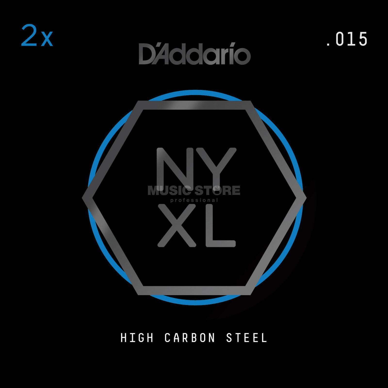 D'Addario NYPL015 Plain Single String 2-Pack - High Carbon Steel Imagem do produto