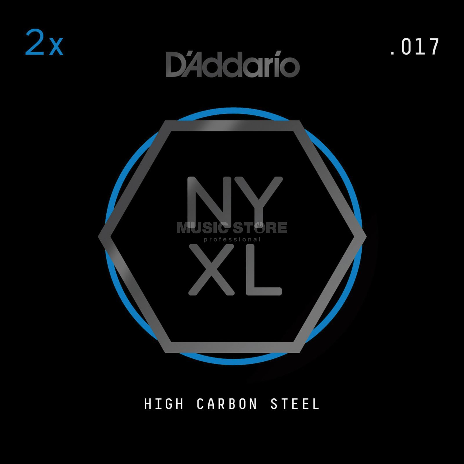 D'Addario NYPL017 Plain Single String 2-Pack - High Carbon Steel Product Image