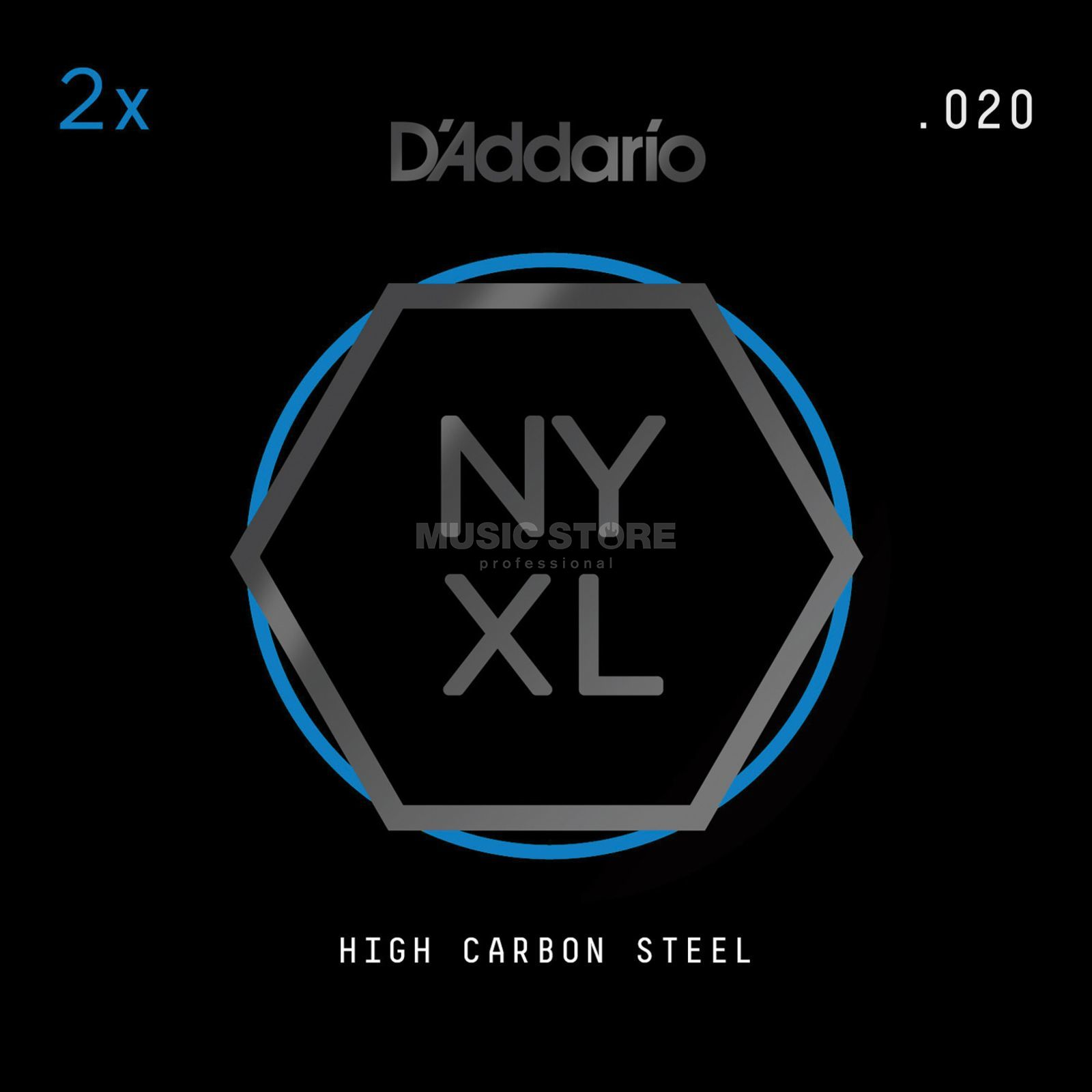 D'Addario NYPL020 Plain Single String 2-Pack - High Carbon Steel Imagen del producto