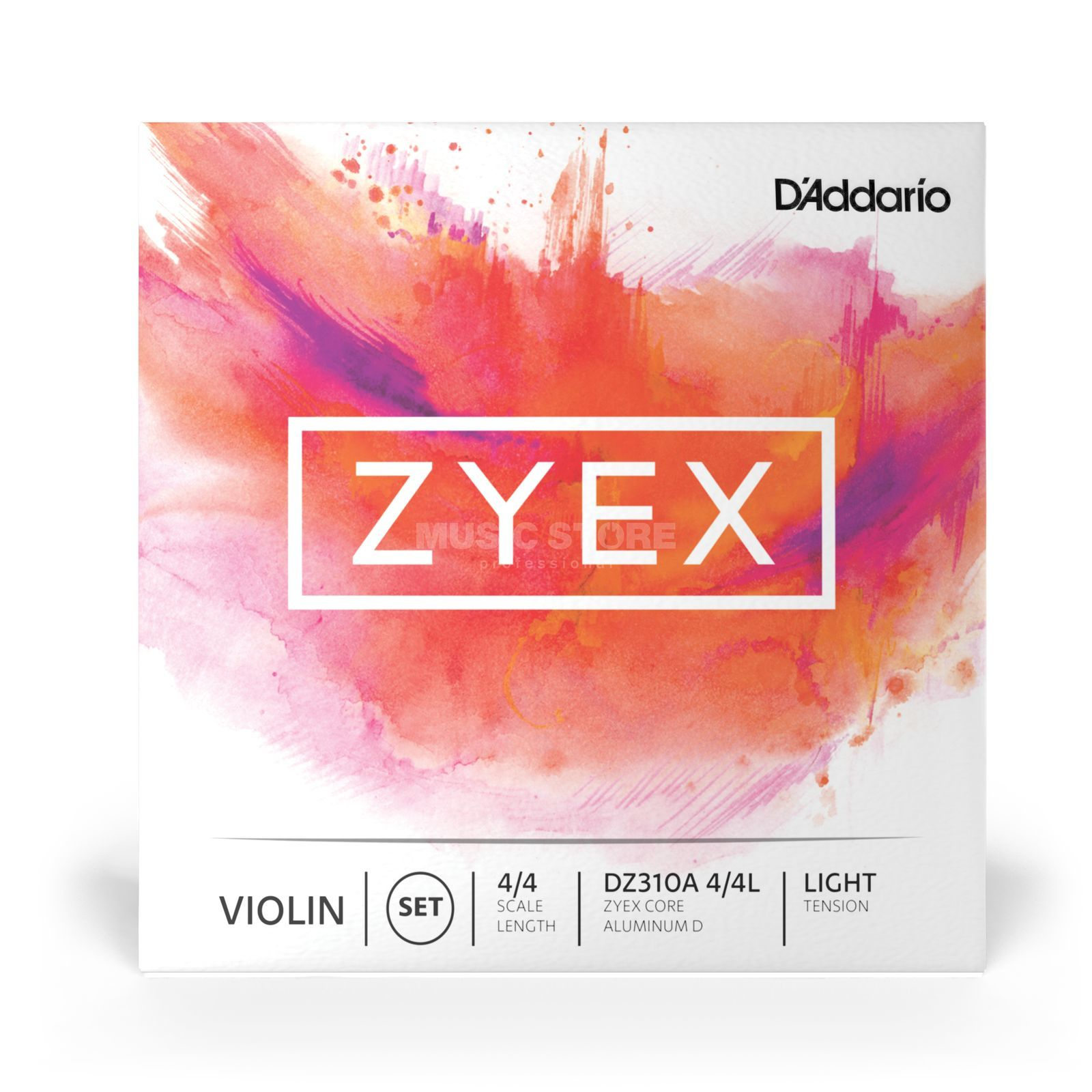 D'Addario Orchestral Violin String Zyex DZ310A-4/4L Light Tension, Aluminium D Product Image