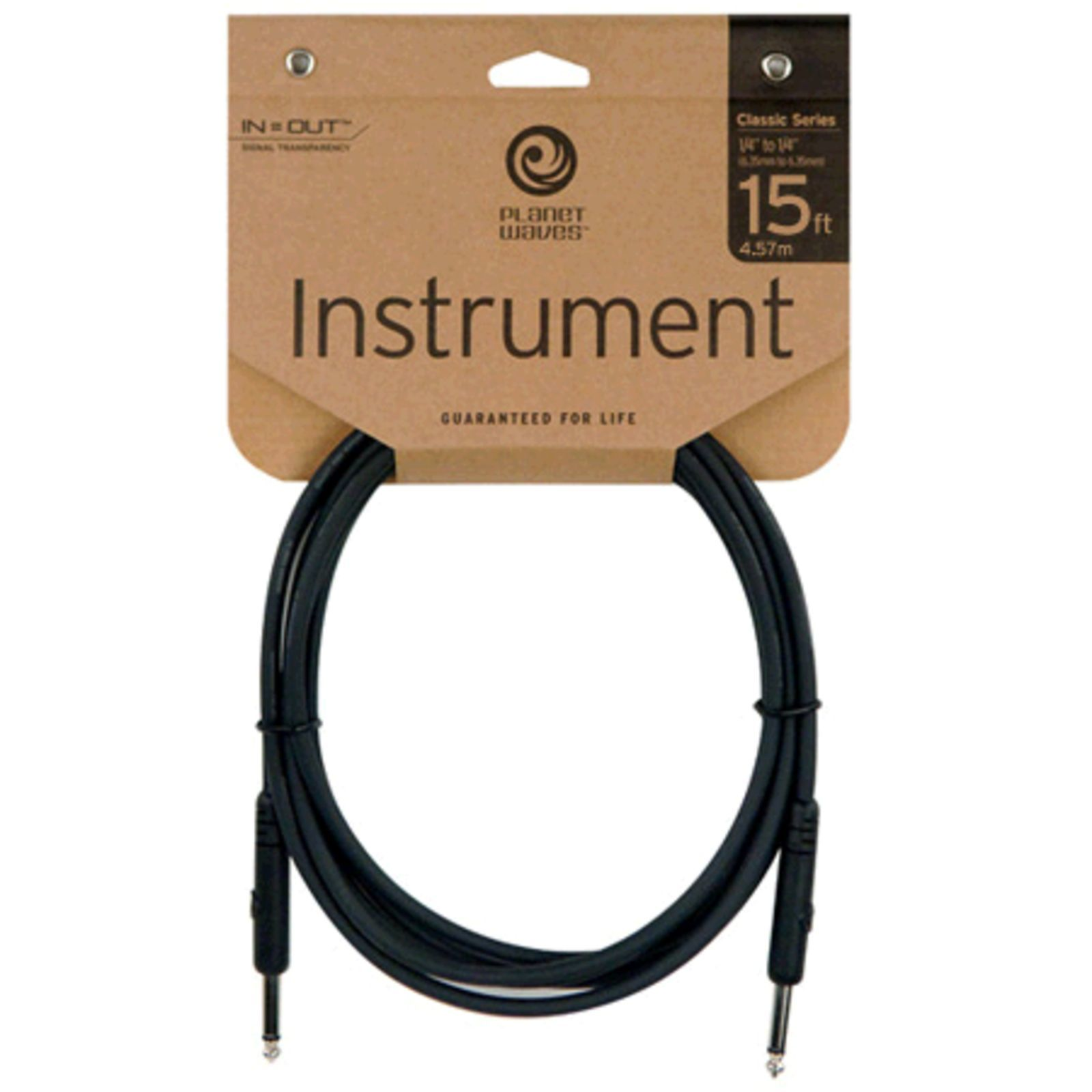 D'Addario Planet Waves Instrument cable 4,5 meter PW-CGT-15 Straight Product Image