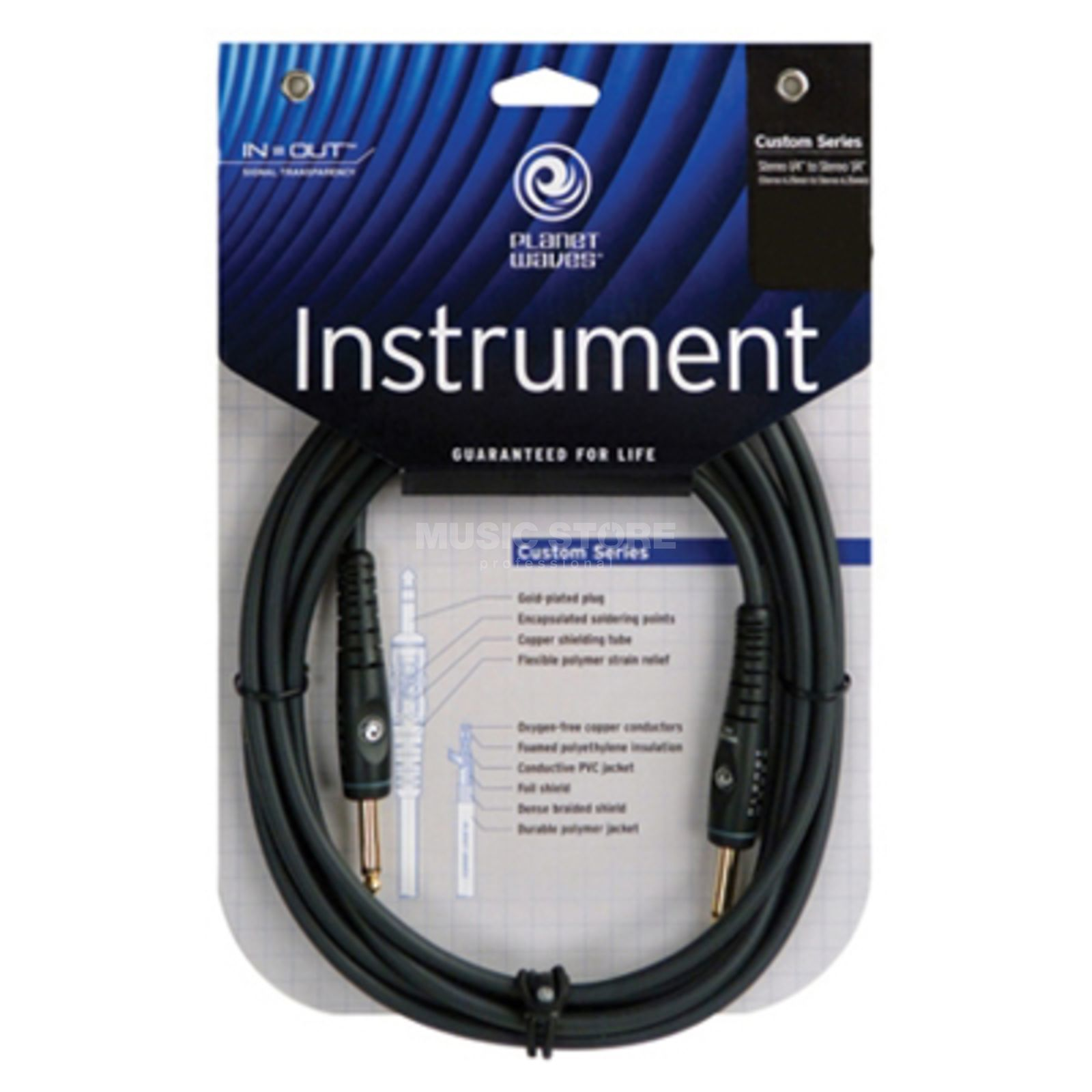 D'Addario Planet Waves PW-G-30 Instrumentenkabel 9m Custom Produktbild