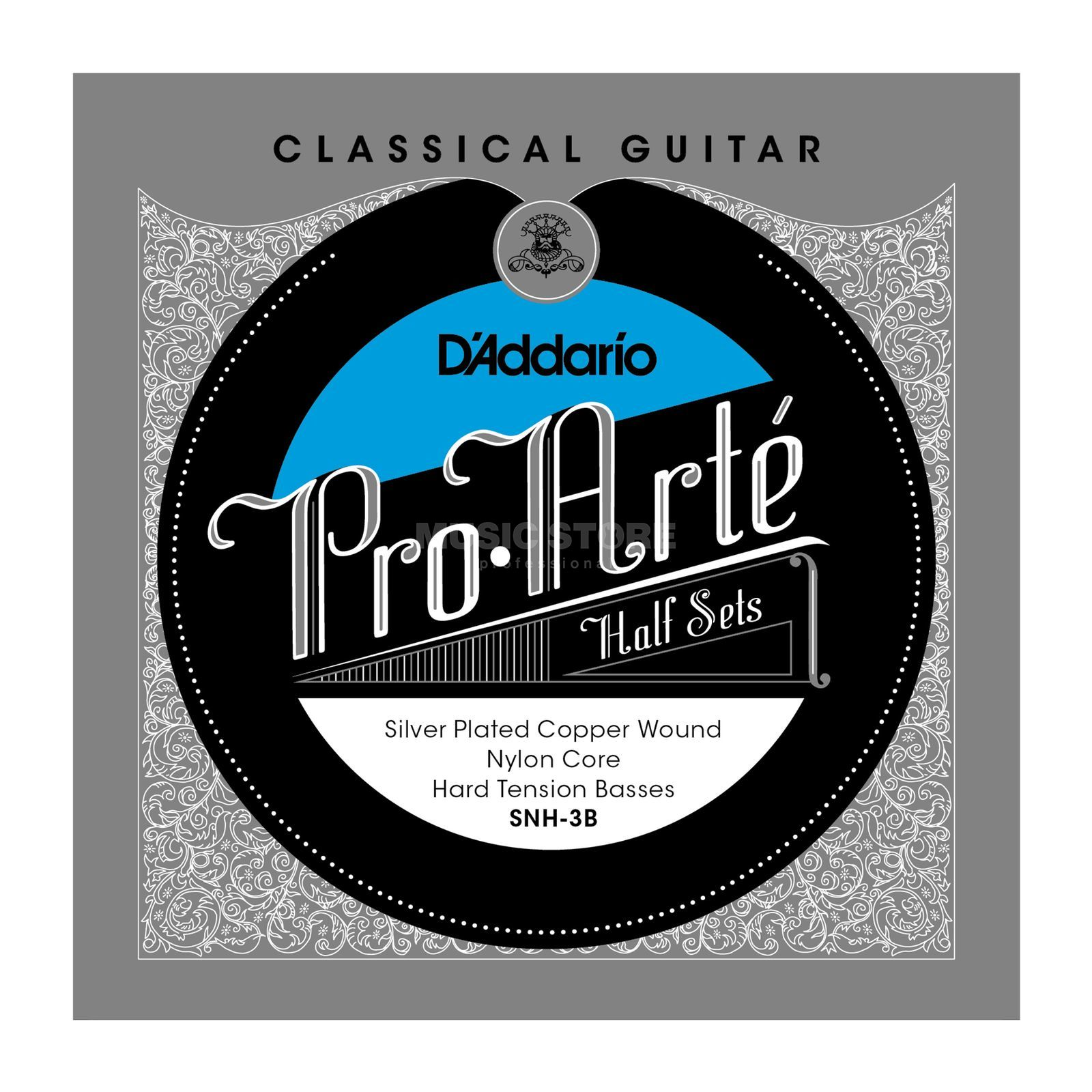 D'Addario Pro Arte Bass Set SNH-3B Silverplated, Hard Produktbild