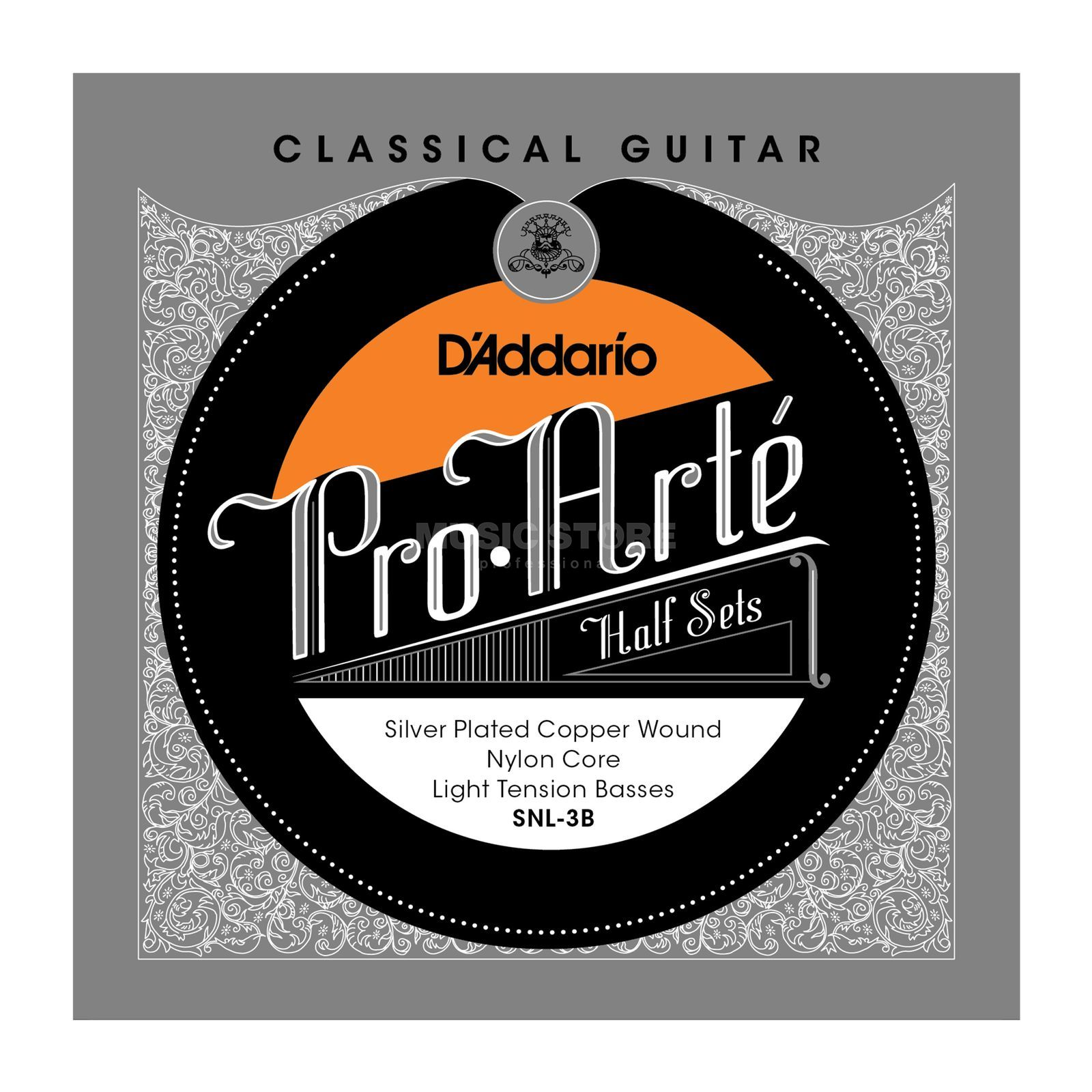 D'Addario Pro Arte Bass Set SNL-3B Silverplated, Light Produktbillede