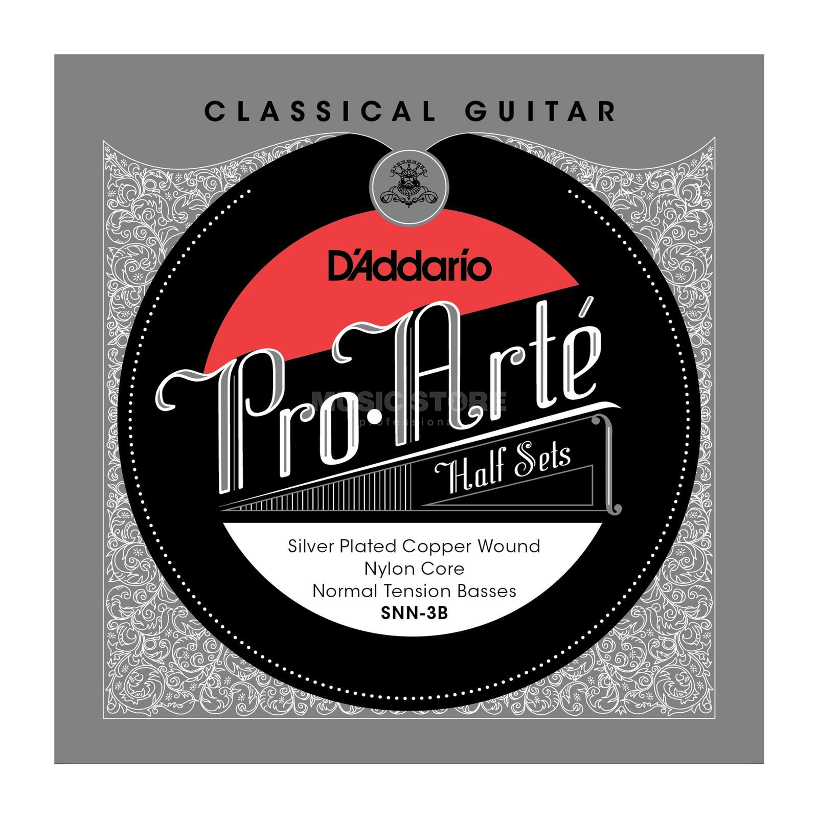 D'Addario Pro Arte Bass Set SNN-3B Silverplated, Normal Produktbillede