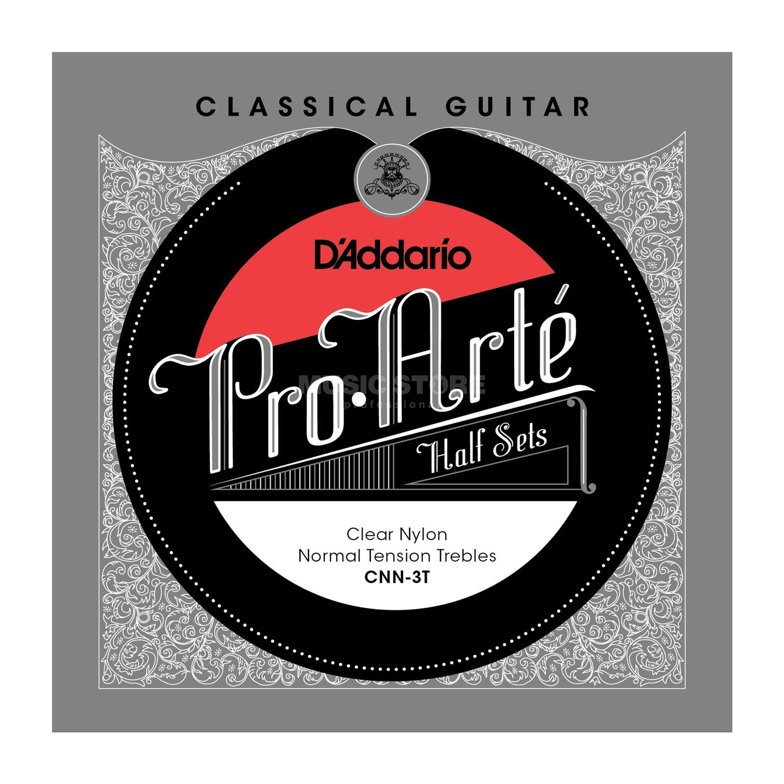 D'Addario Pro Arte Diskant Set CNN-3T Clear Nylon, Normal Produktbillede