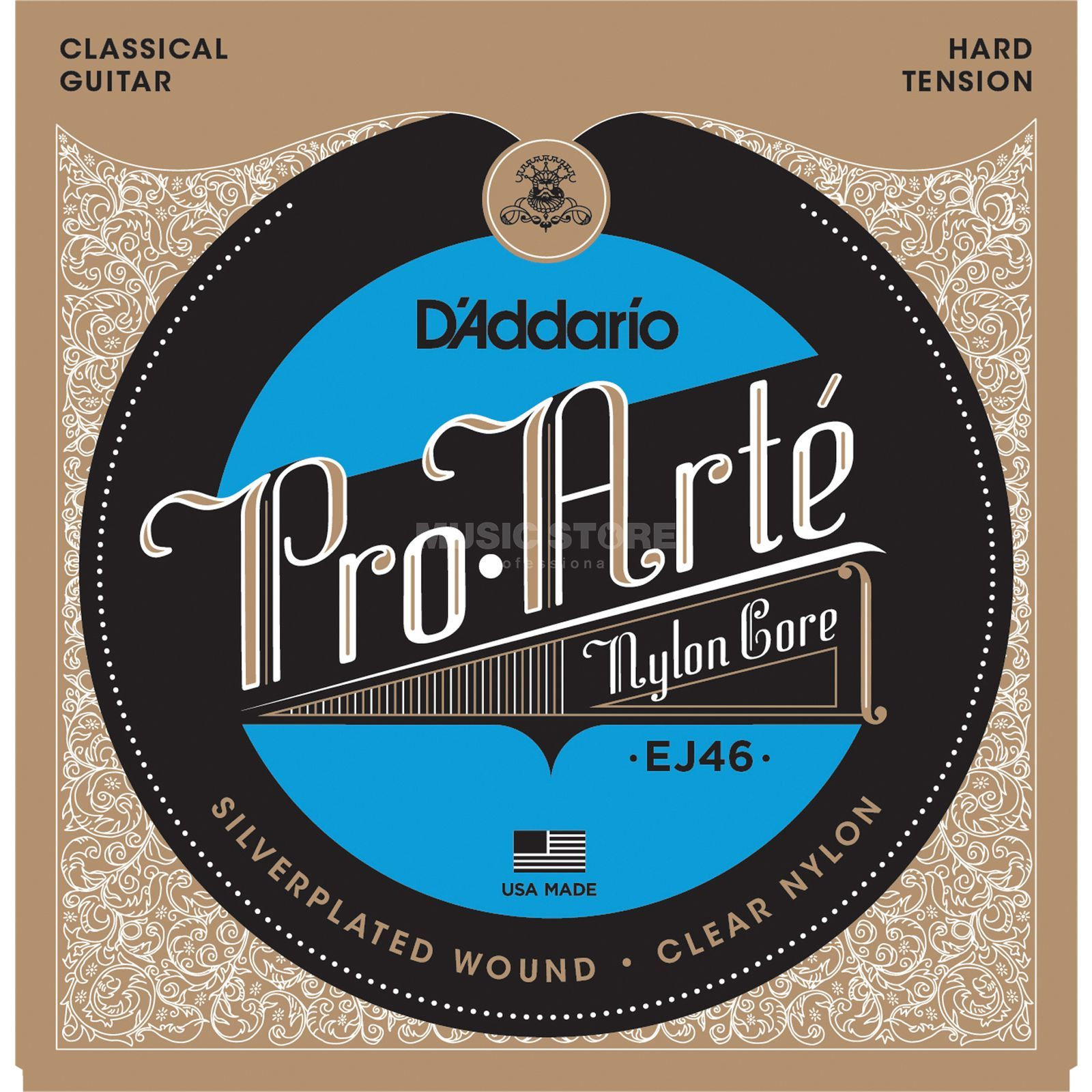 D'Addario Pro Arte EJ46 Hard Tension Silverplated Produktbild