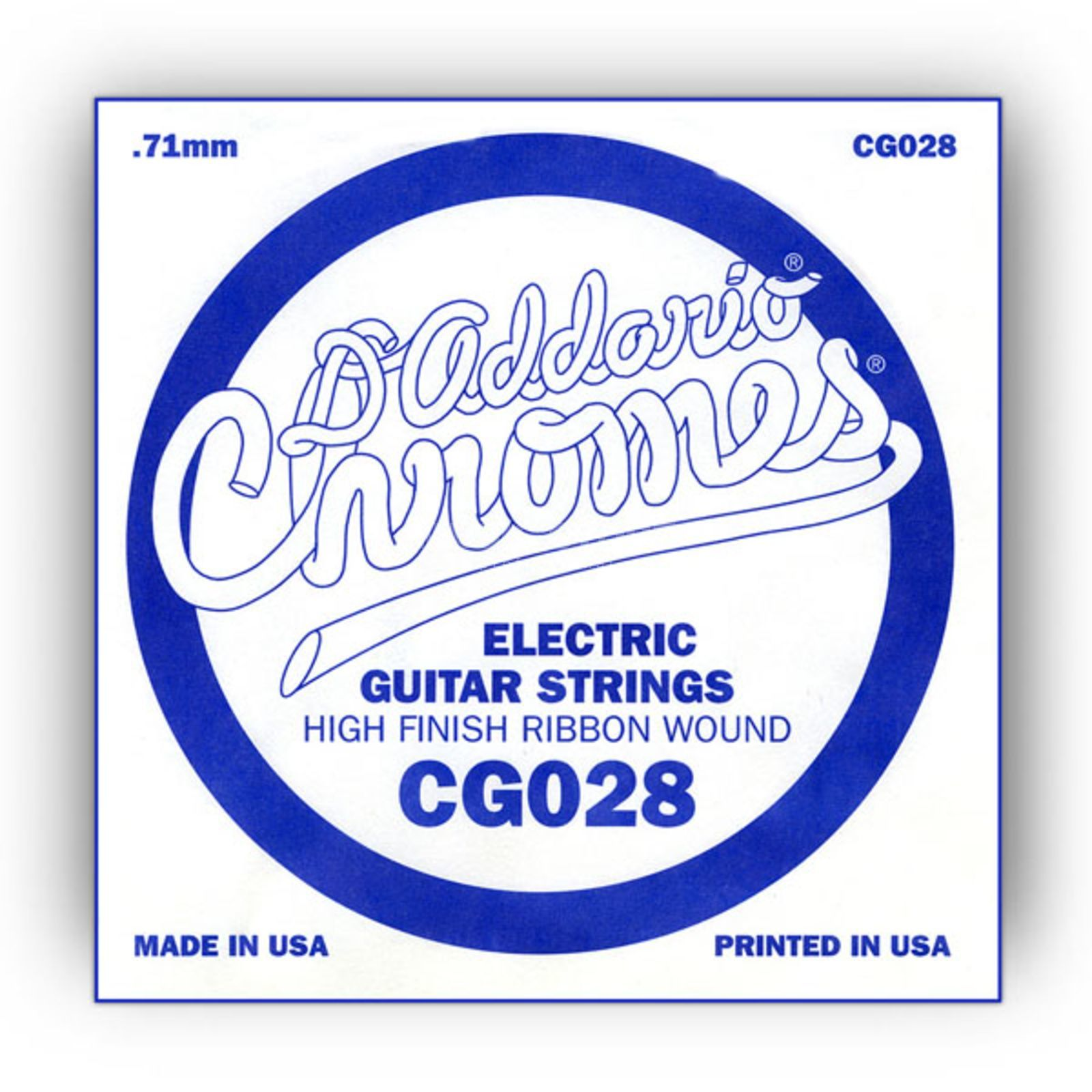 D'Addario Single String CG028 Flat Wound  Product Image