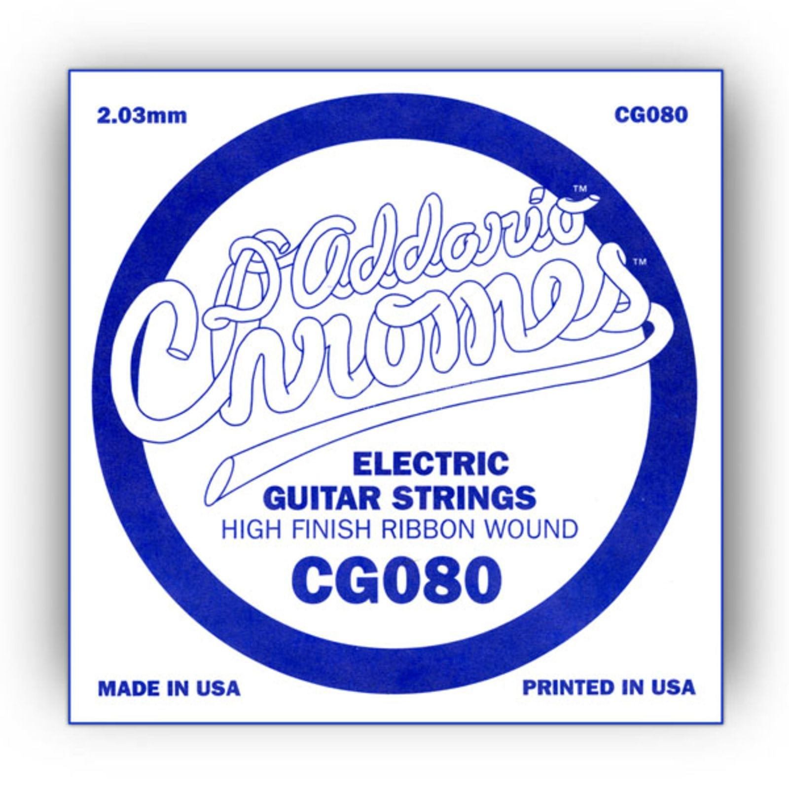 D'Addario Single String CG080 Flat Wound  Produktbillede