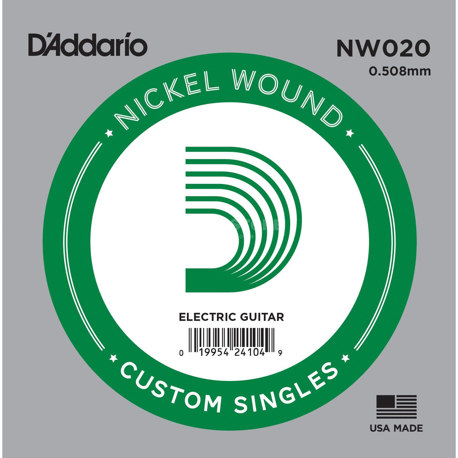D'Addario Single String NW020 Nickelwound Produktbillede