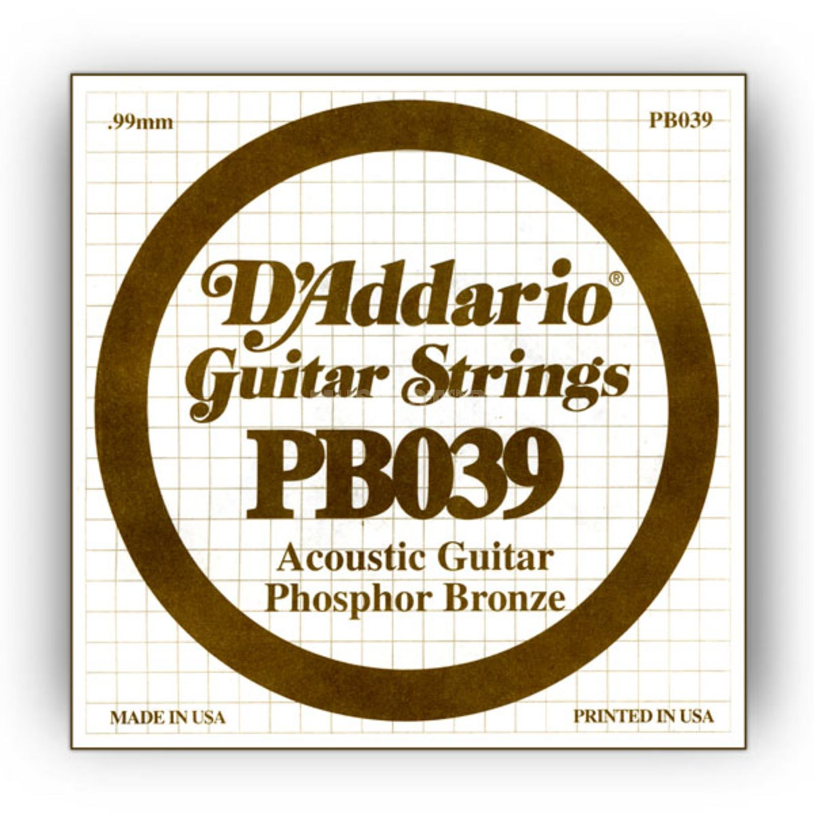 D'Addario Single String PB039 Phosphor Bronze Produktbillede