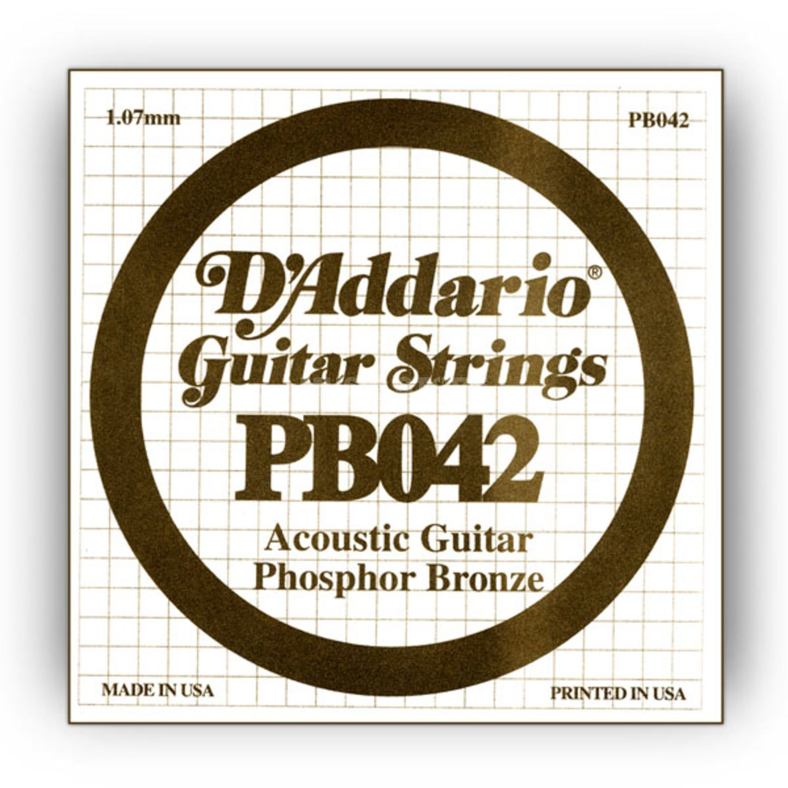 D'Addario Single String PB042 Phosphor Bronze Produktbillede