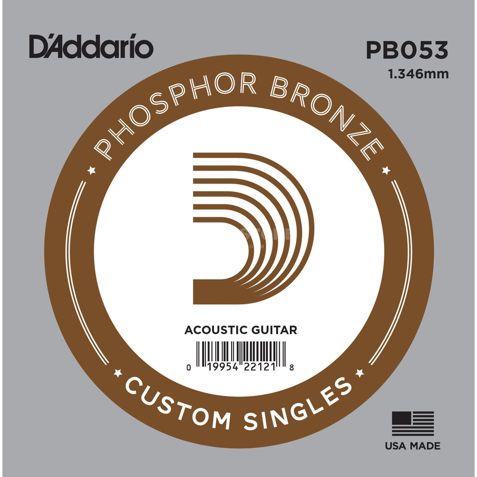 D'Addario Single String PB053 Phosphor Bronze Produktbillede