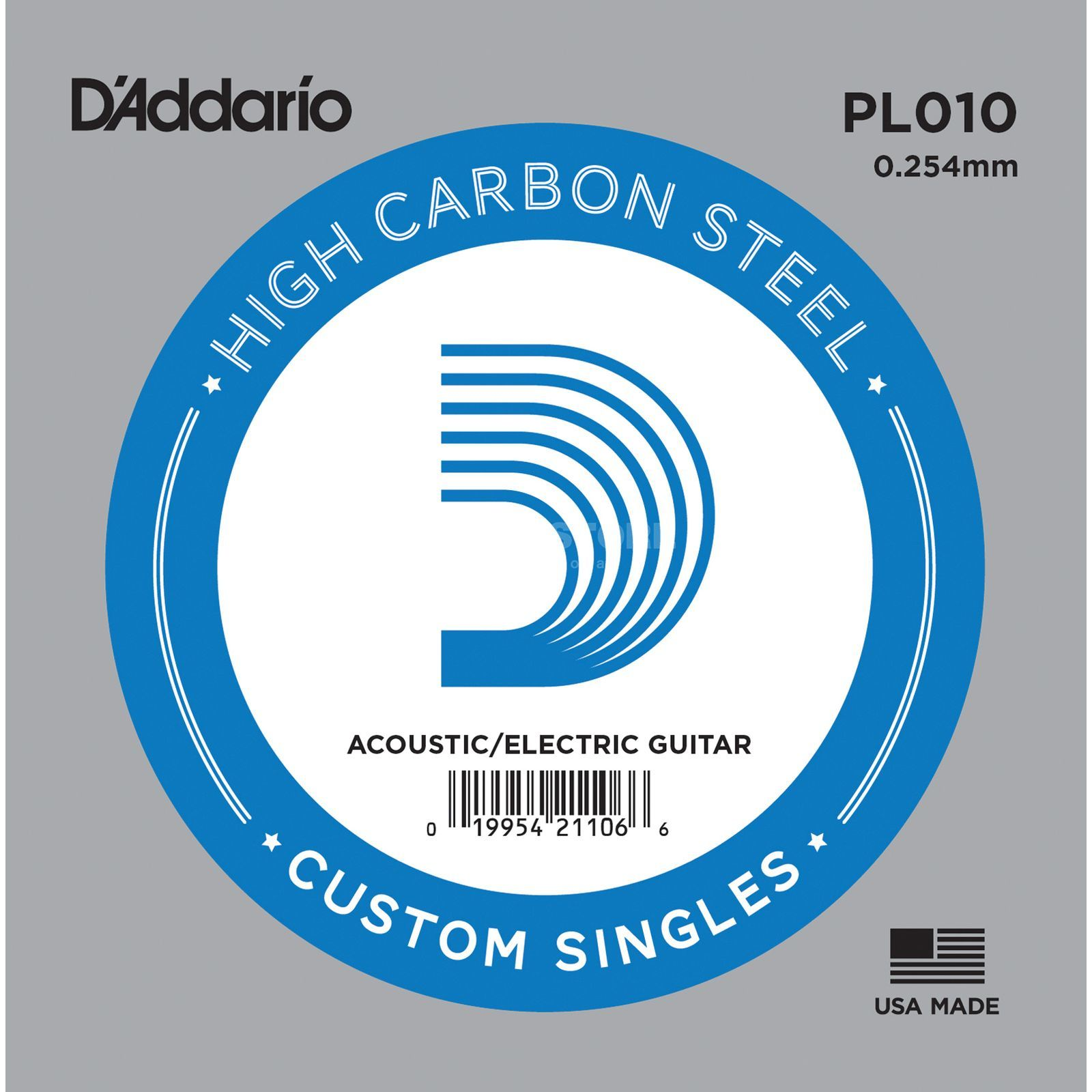 D'Addario Single String PL010 Plain  Produktbillede