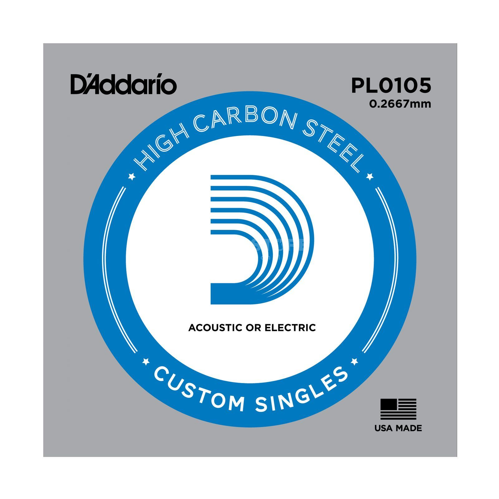 D'Addario Single String PL0105 Plain  Produktbillede