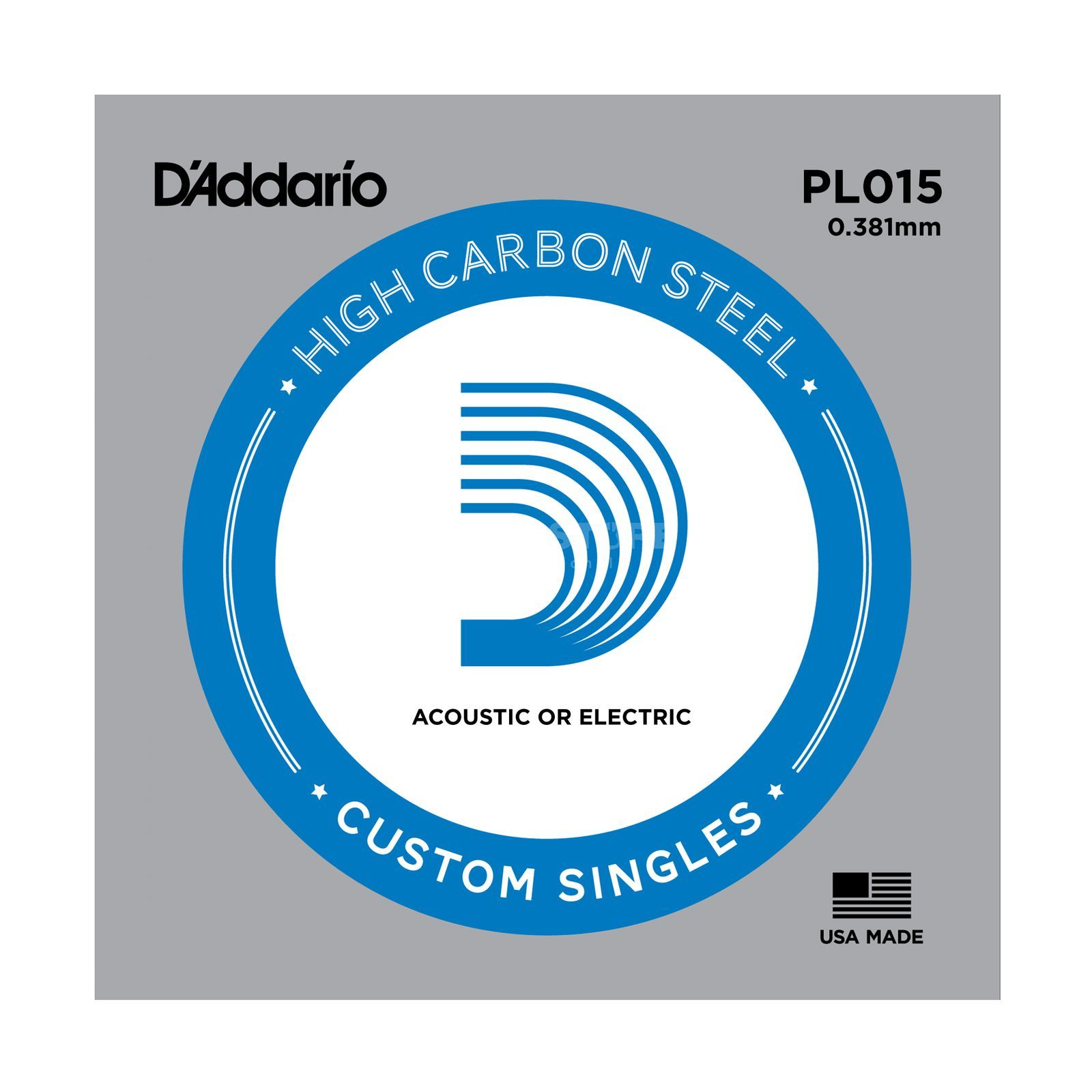 D'Addario Single String PL015 Plain  Produktbillede