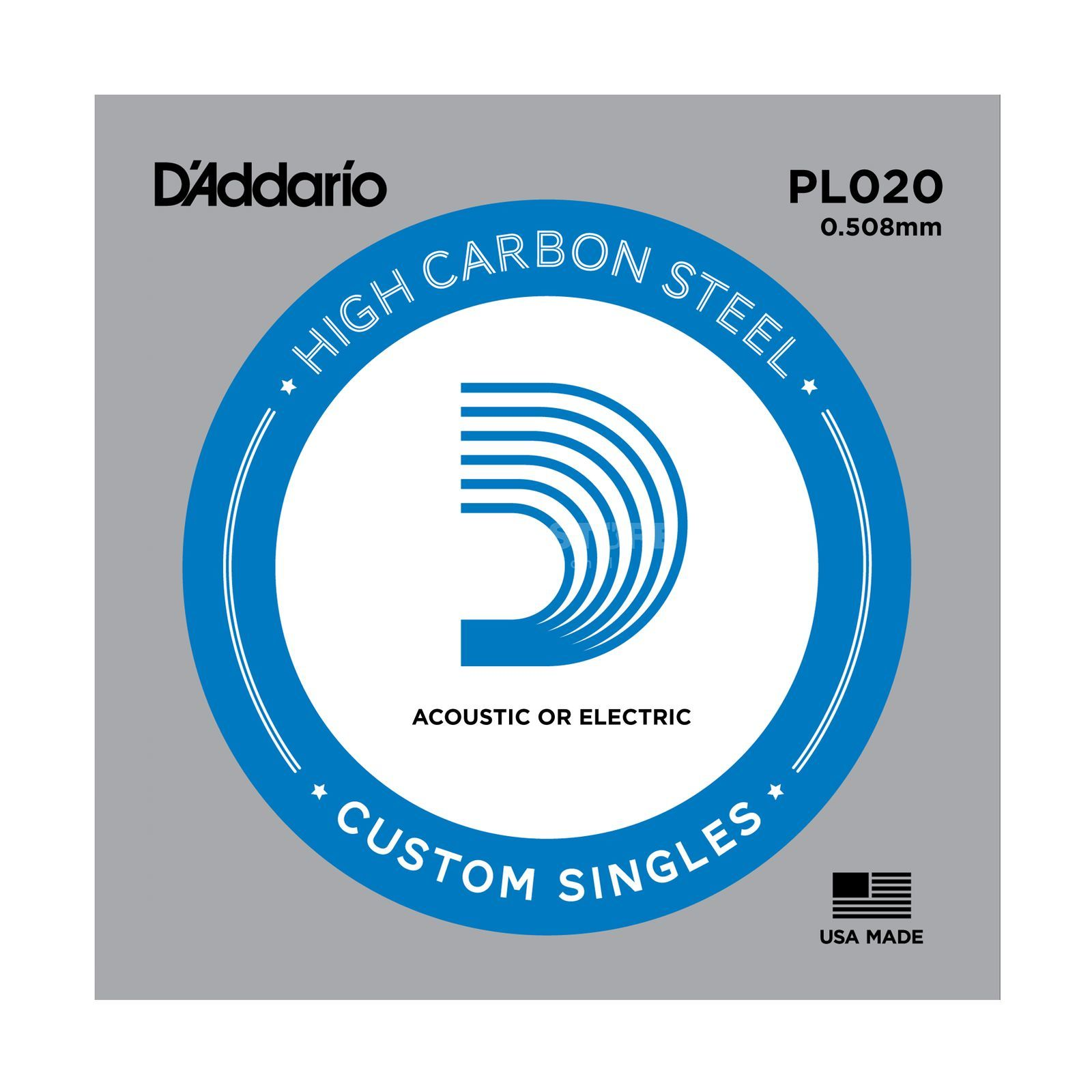 D'Addario Single String PL020 Plain  Produktbillede