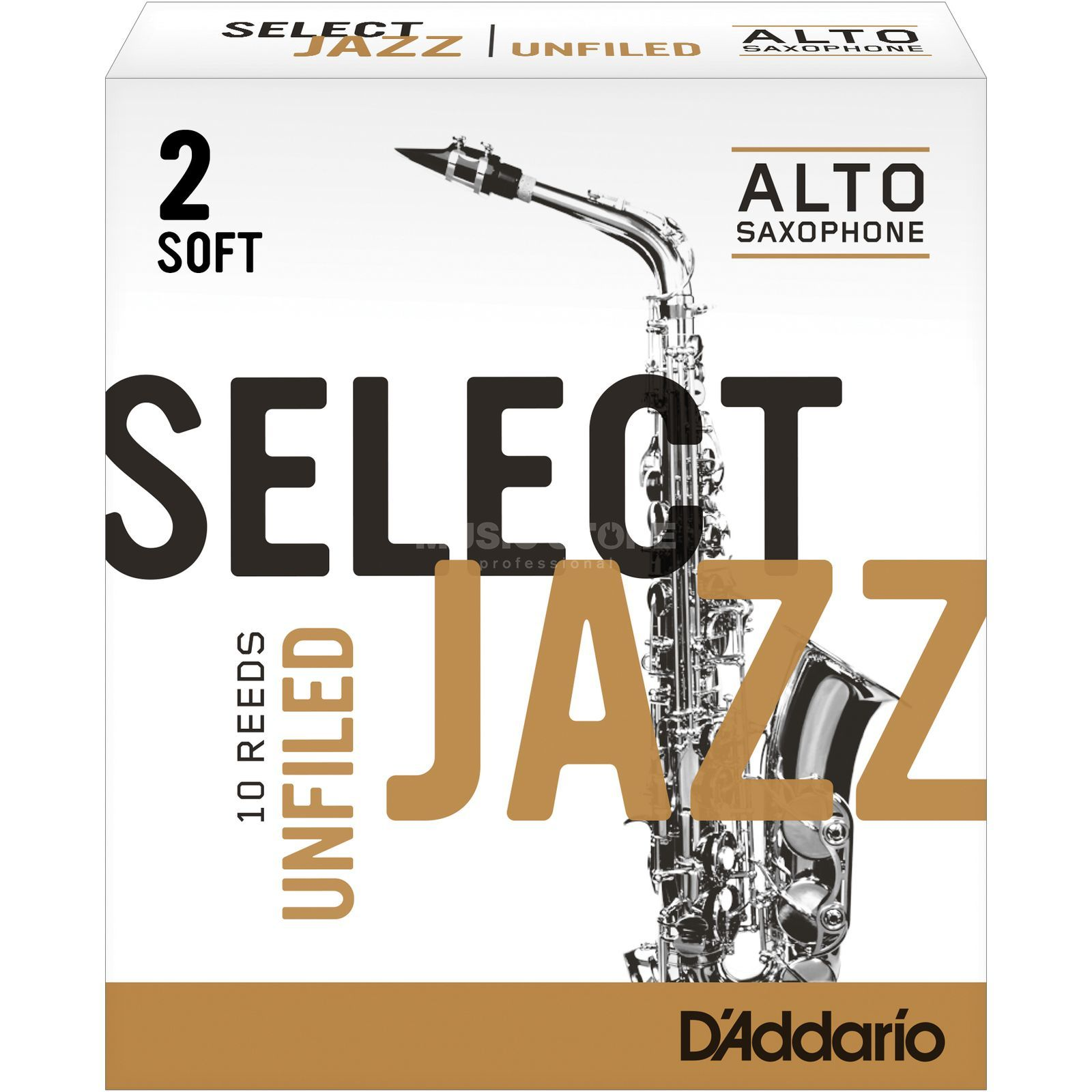 D'Addario Woodwinds Alto Sax Reeds 2S Unfiled Box of 10 Product Image