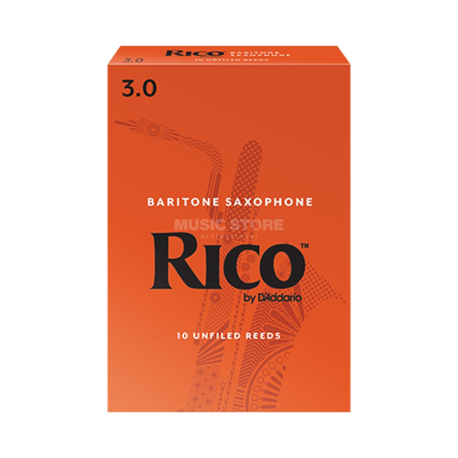 D'Addario Woodwinds RICO Baritone Sax 3 Box of 10 Reeds Product Image