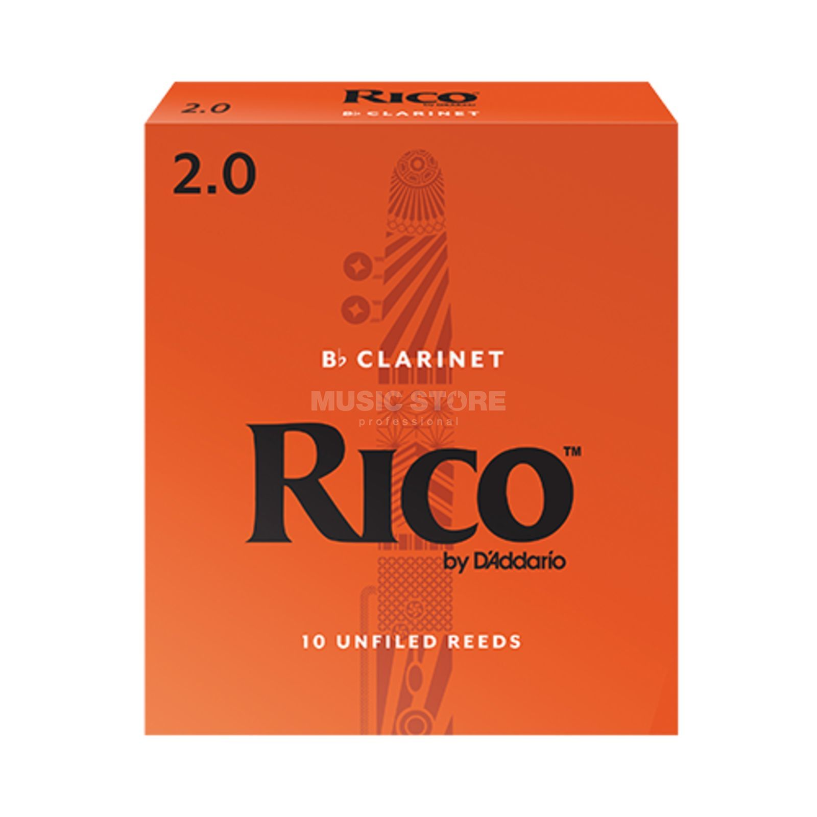 D'Addario Woodwinds Rico Bb-Clarinet Reed 2 Box of 10 Изображение товара