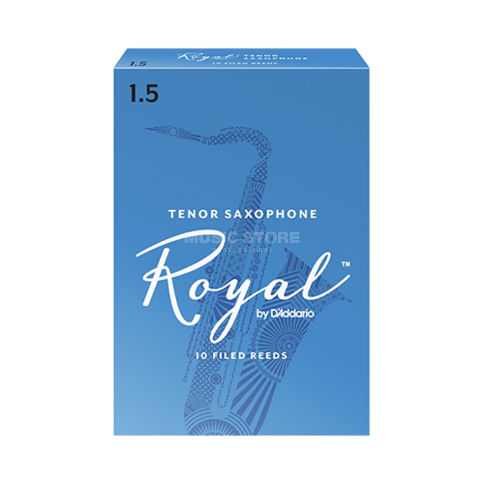 D'Addario Woodwinds Rico Royal 1.5 Tenor Saxophone Reeds Box of 10 Produktbillede