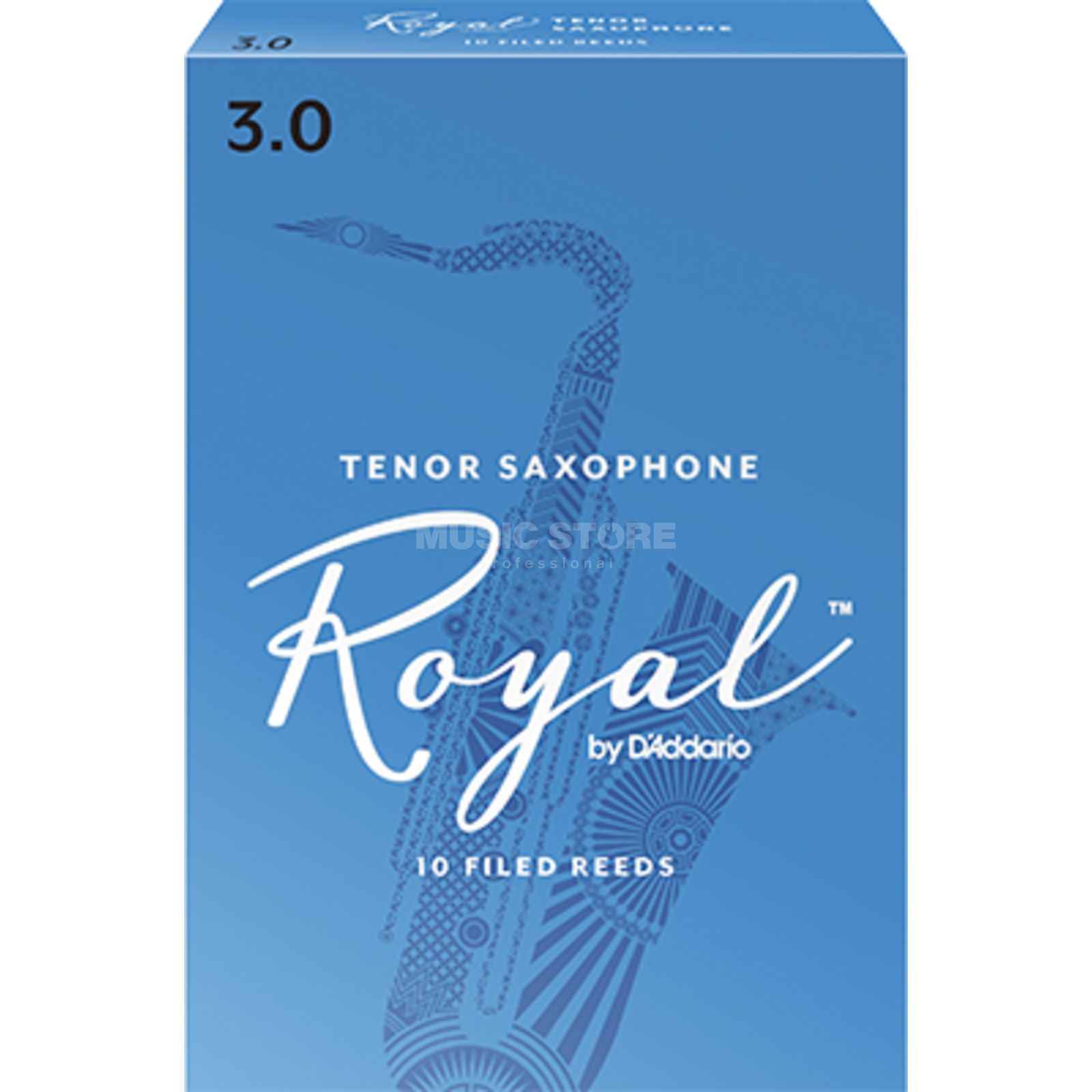 D'Addario Woodwinds Rico Royal 3 Tenor Saxophone Reeds Box of 10 Immagine prodotto
